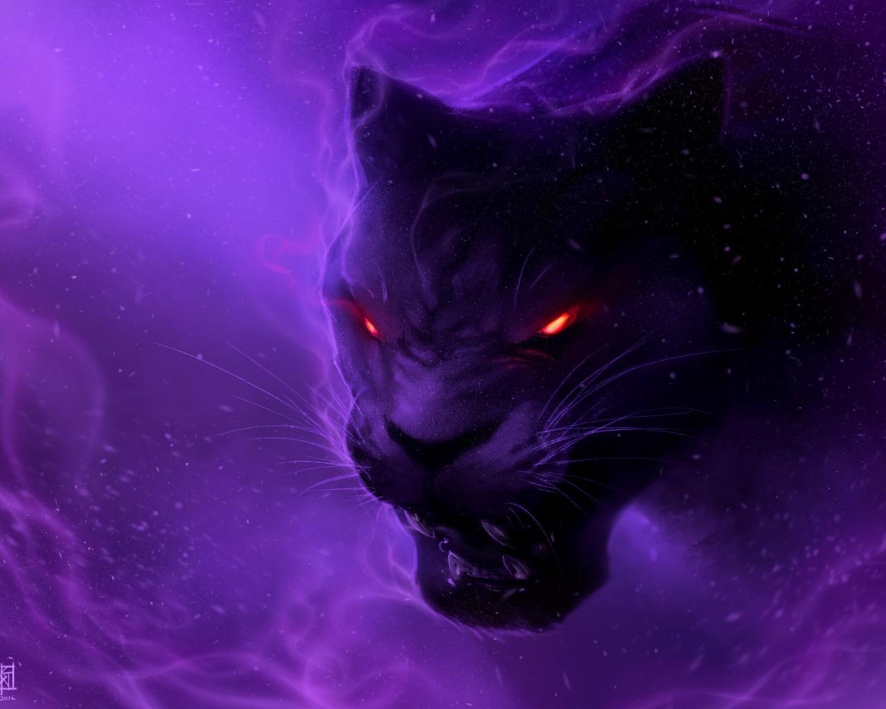 1280x1024 Black Panther Digital Art Illustration 1280x1024