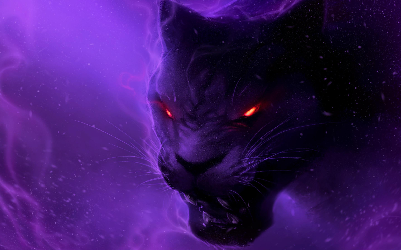 Black Panther Animal 4k Wallpapers For Mobile: 2880x1800 Black Panther Digital Art Illustration Macbook
