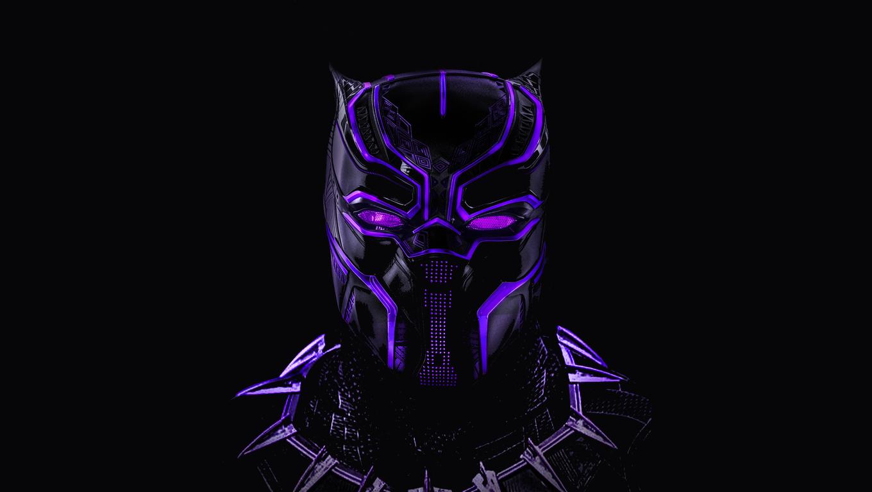 Black Panther Glowing Artwork Af