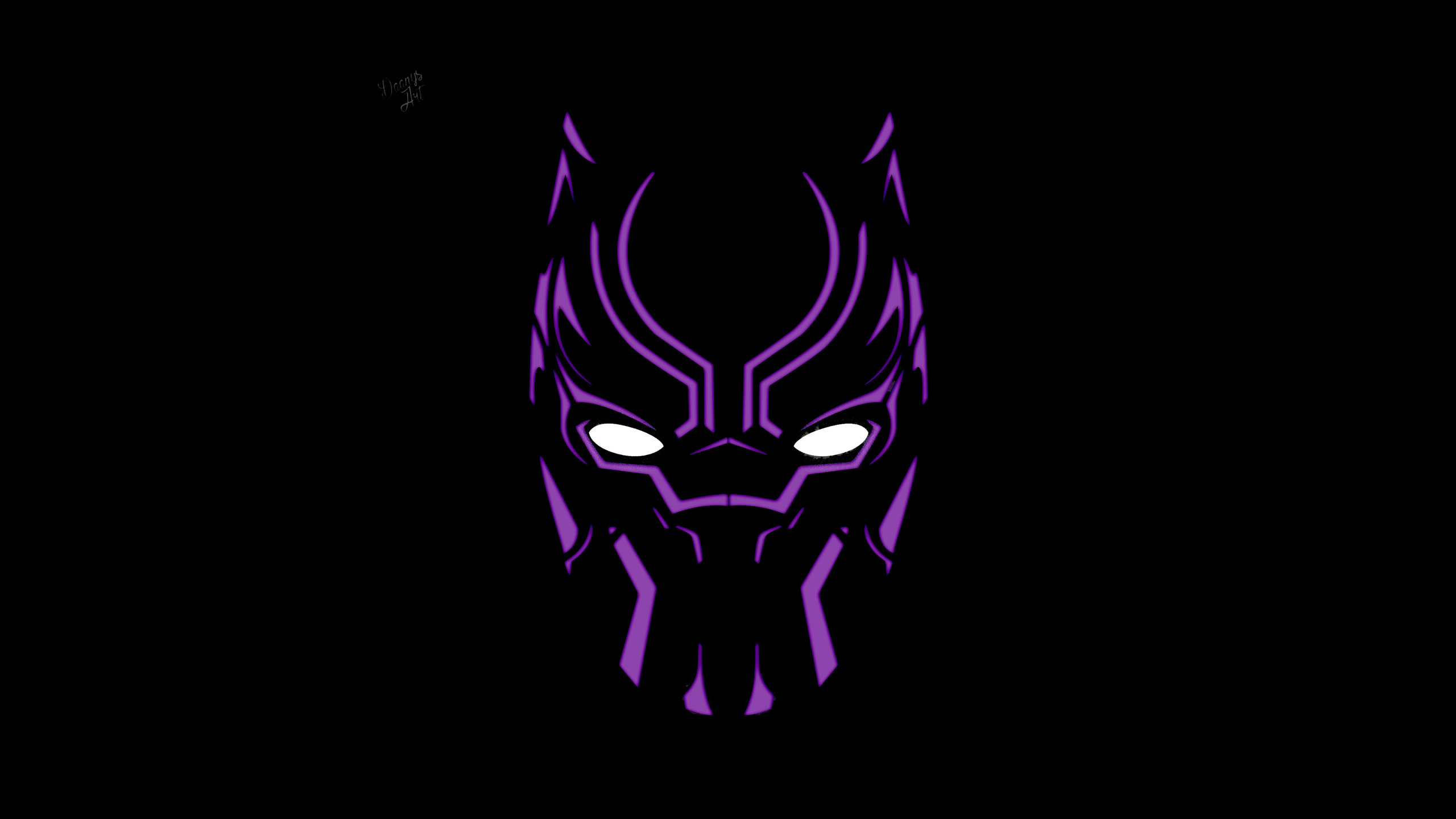 2560x1440 Black Panther Illustration 4k Artwork 1440p Resolution Hd