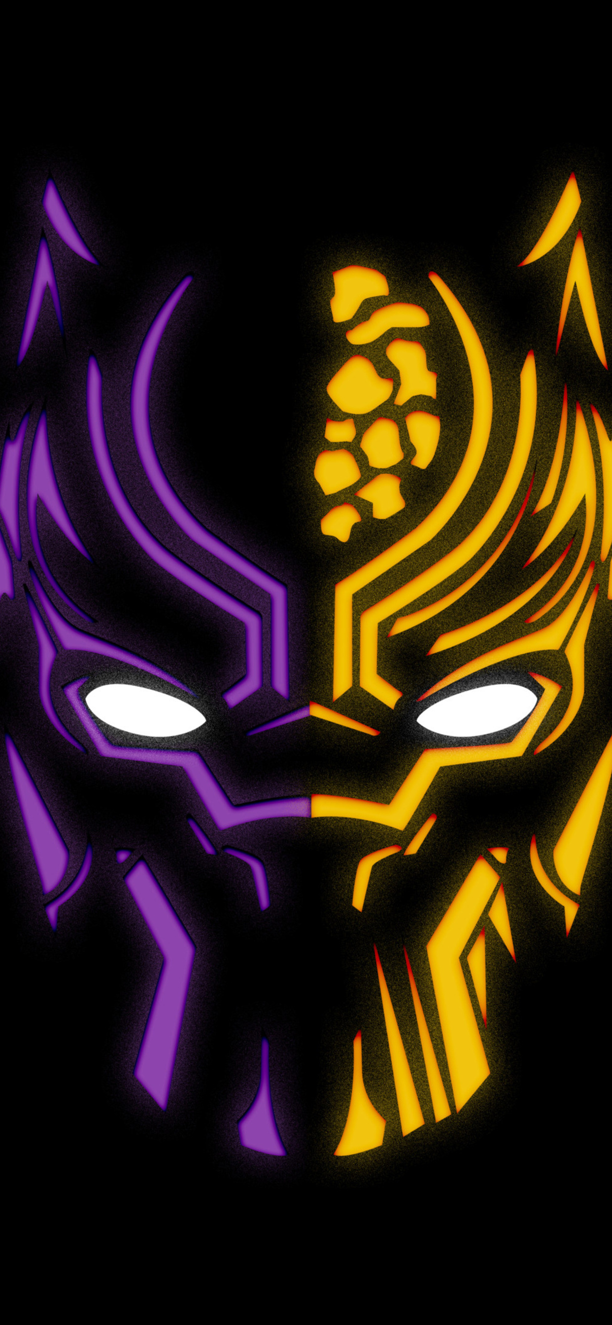 1242x2688 Black Panther Illustration 4k Iphone Xs Max Hd 4k