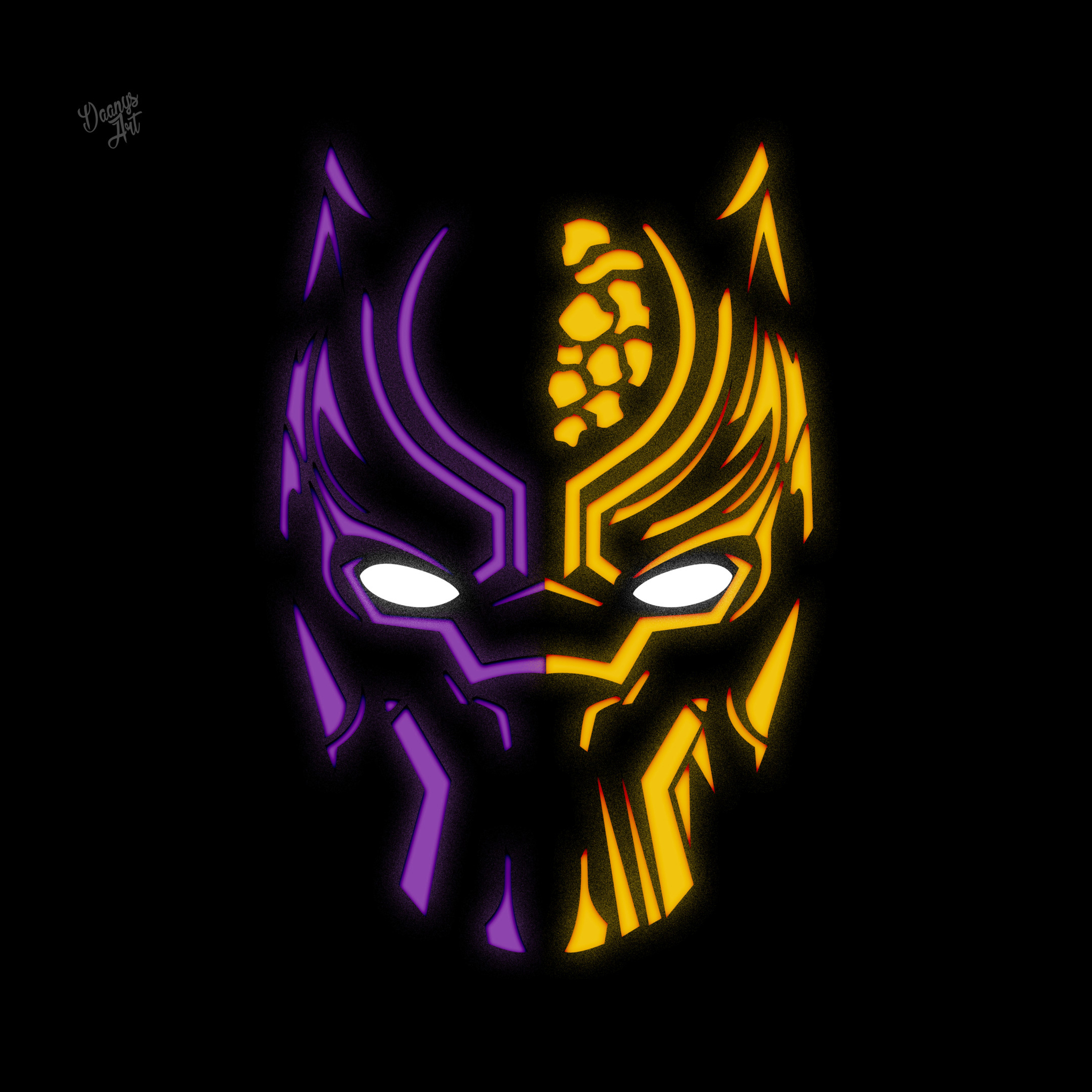 2048x2048 Black Panther Illustration 4k Ipad Air HD 4k ...