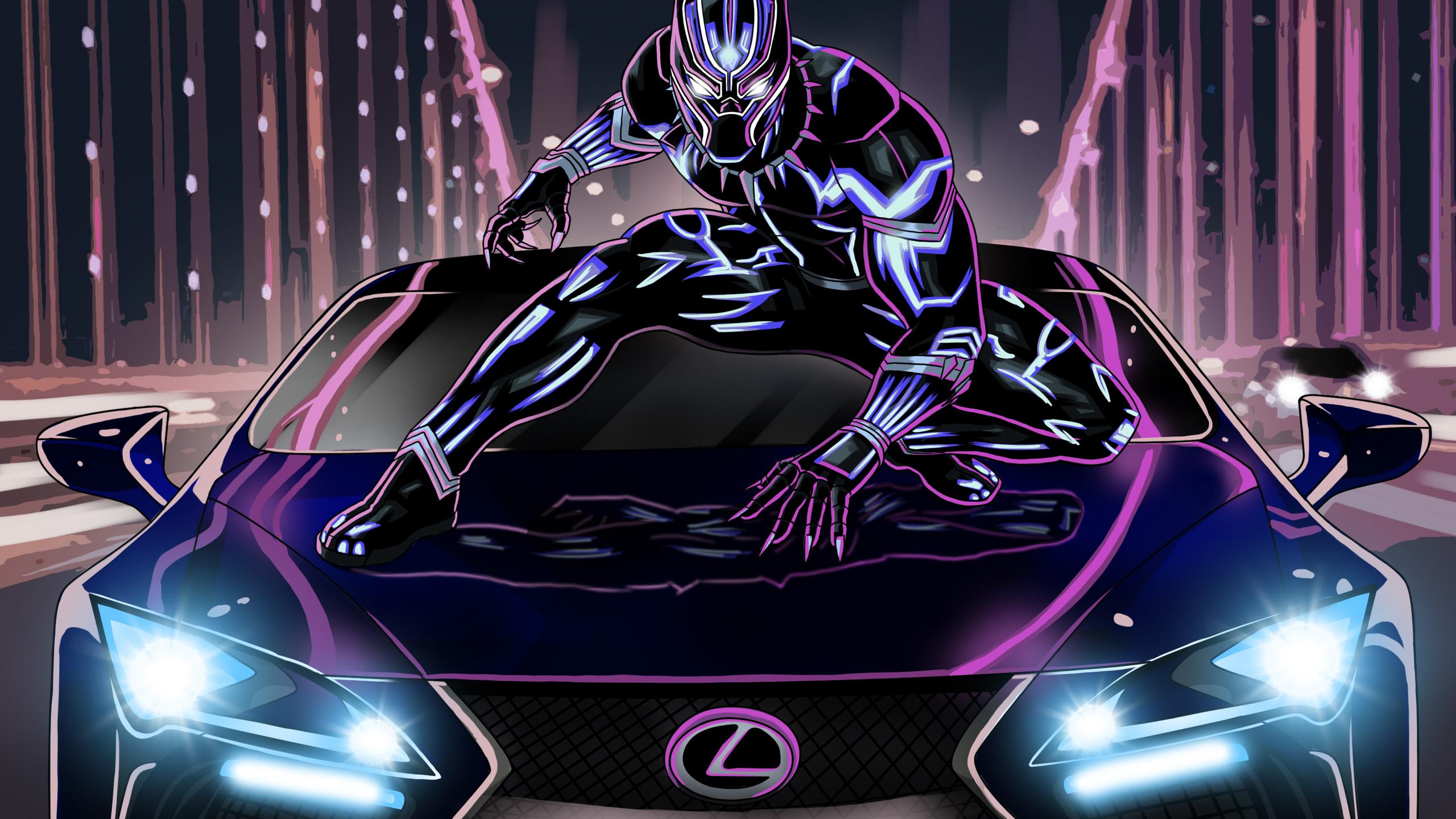2560x1440 Black Panther Lexus Artwork 1440P Resolution HD ...