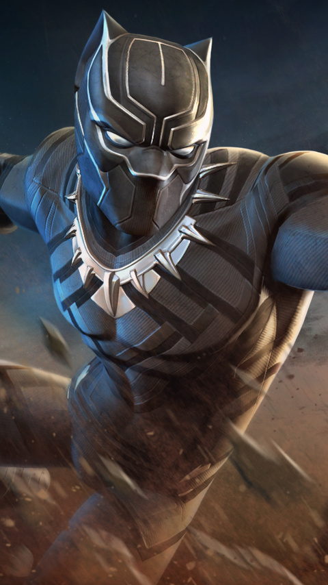 480x854 Black Panther Marvel Contest Of Champions Android One Hd 4k