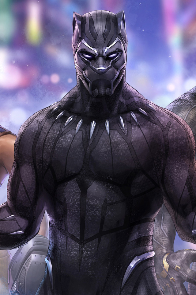 640x960 Black Panther Marvel Fight Iphone 4 Iphone 4s Hd 4k