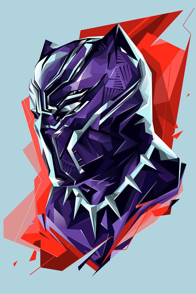 640x960 Black Panther Marvel Heroes Art Iphone 4 Iphone 4s Hd 4k Wallpapers Images Backgrounds Photos And Pictures