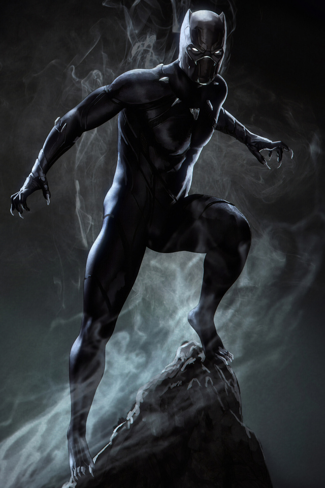 640x960 Black Panther Marvel Superhero Iphone 4 Iphone 4s