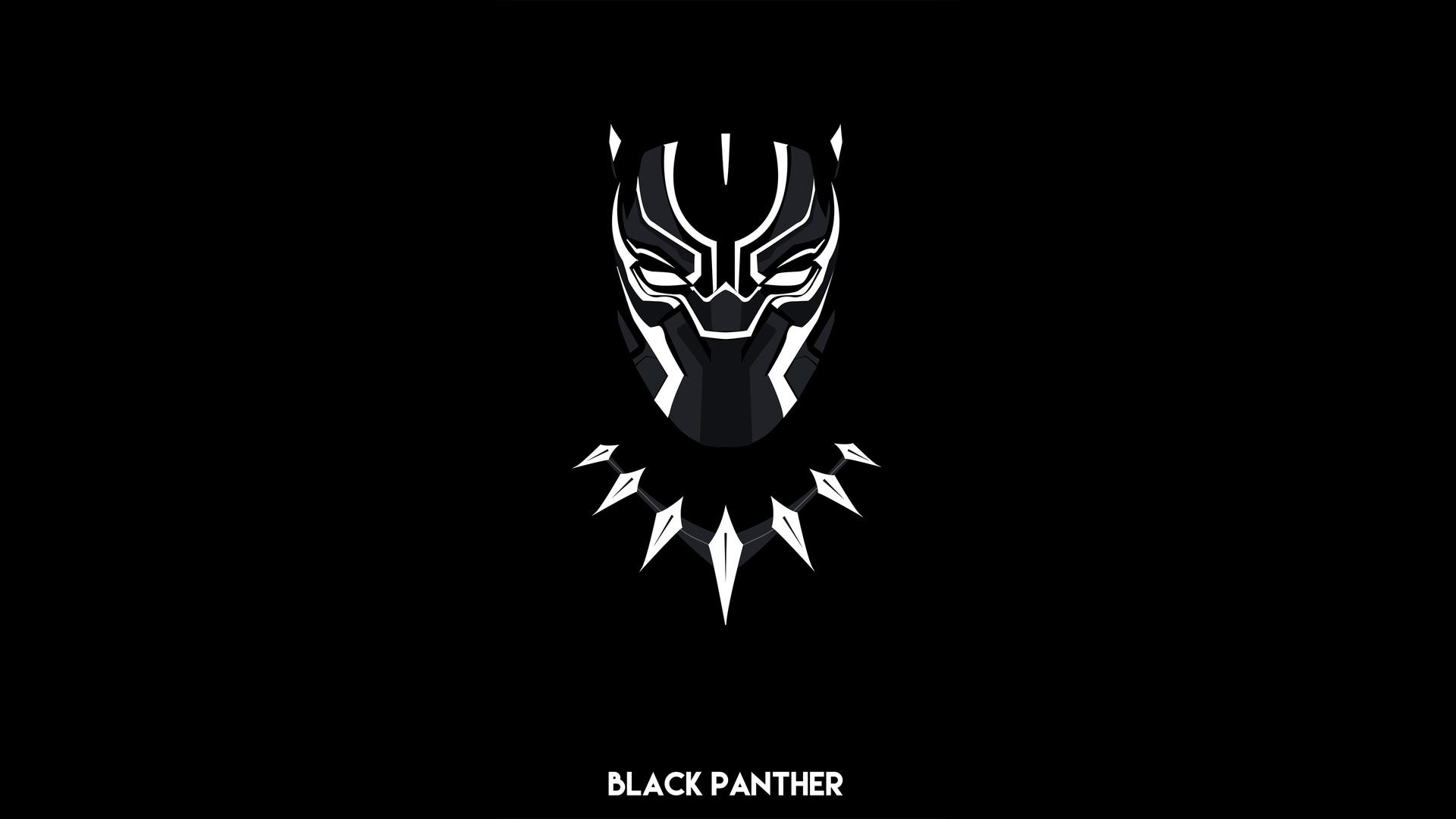 1920x1080 Black Panther Minimal 4k Laptop Full HD 1080P HD ...