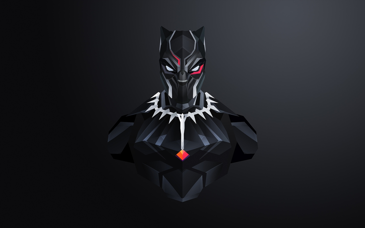 1280x800 Black Panther Minimalism 2018 720p Hd 4k Wallpapers Images