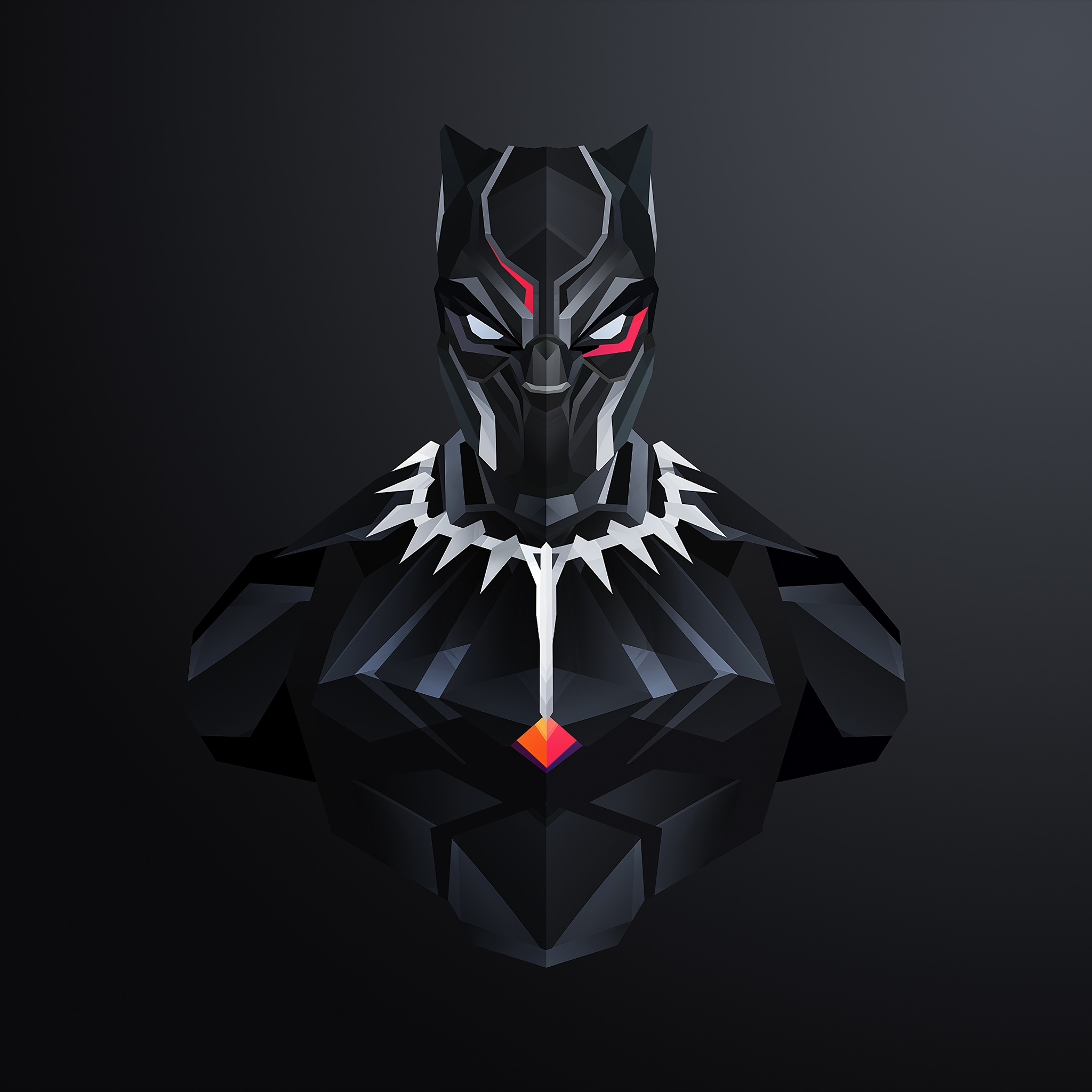 2048x2048 Black Panther Minimalism 2018 Ipad Air HD 4k Wallpapers, Images, Backgrounds, Photos and Pictures