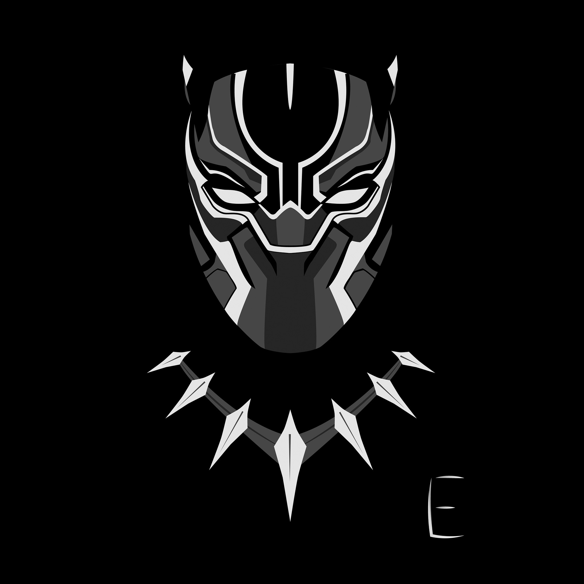 2048x2048 Black Panther Minimalism 4k Ipad Air HD 4k Wallpapers, Images, Backgrounds, Photos and Pictures