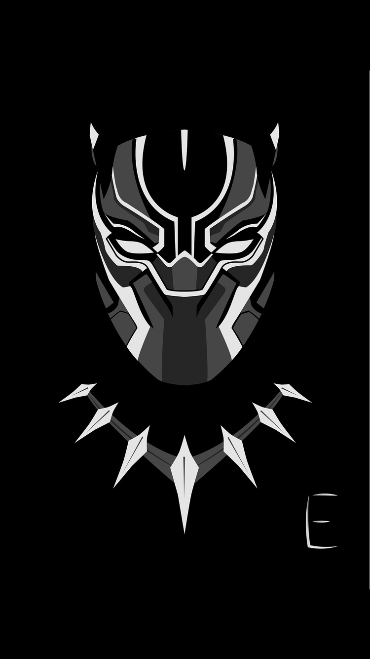 750x1334 Black Panther Minimalism 4k Iphone 6 Iphone 6s Iphone 7