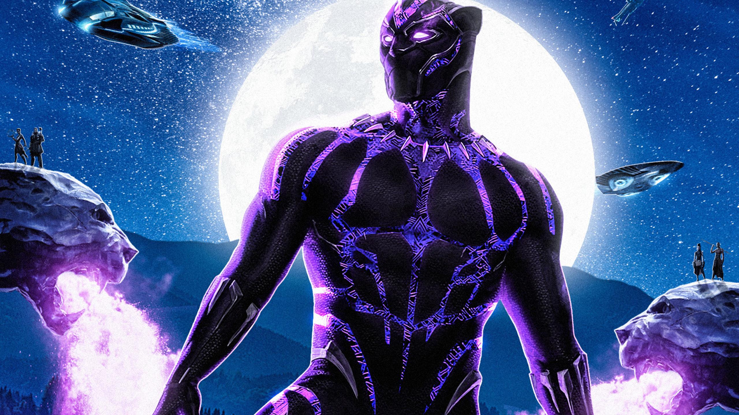 2560x1440 Black Panther Movie 2018 Artwork 1440P ...