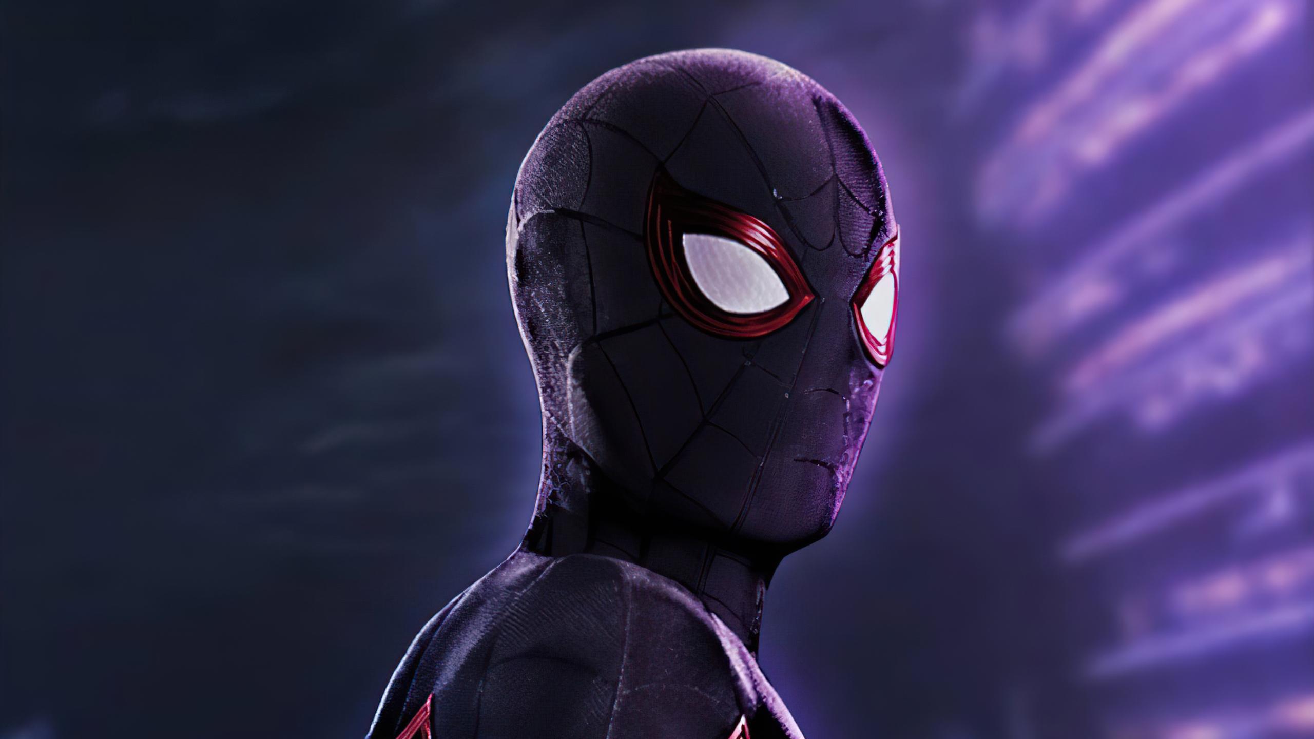 2560x1440 Black Spider Man 2020 4k 1440P Resolution HD 4k ...