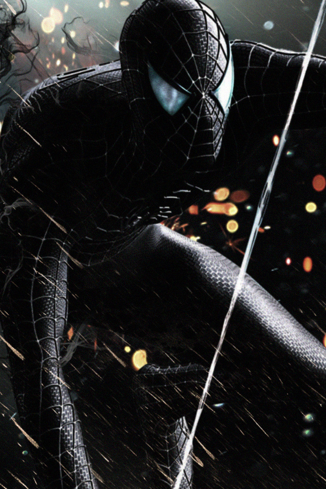 640x960 Black Spiderman Iphone 4 Iphone 4s Hd 4k Wallpapers Images