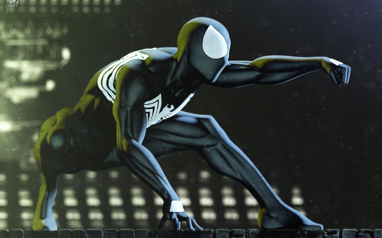 2880x1800 Black Spiderman Art Macbook Pro Retina Hd 4k Wallpapers