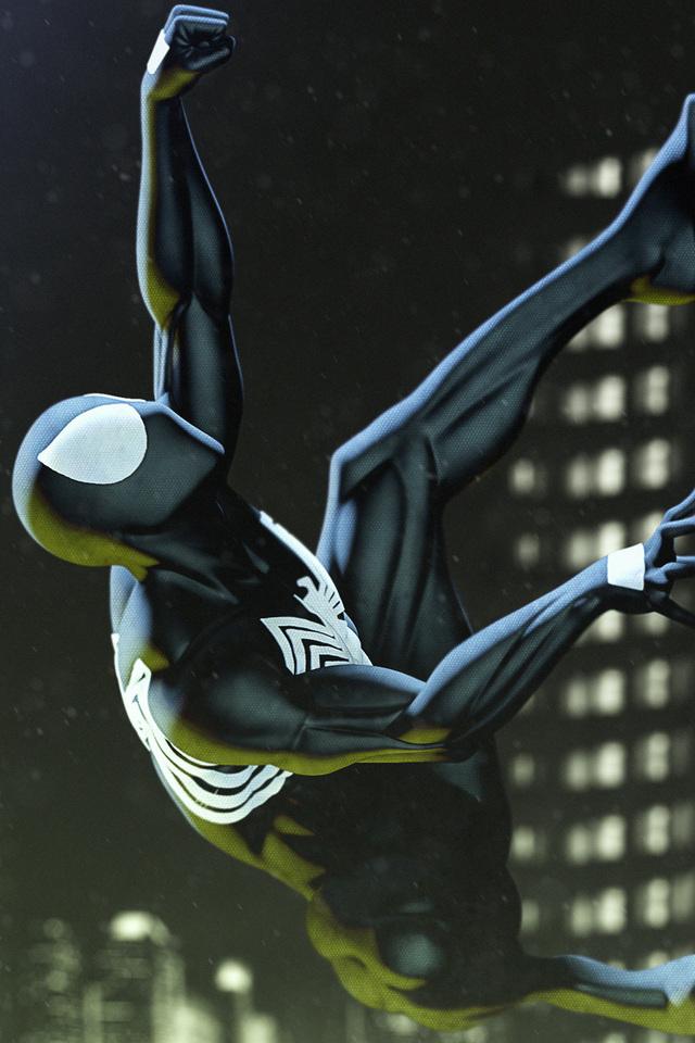640x960 Black Spiderman Art Iphone 4 Iphone 4s Hd 4k Wallpapers