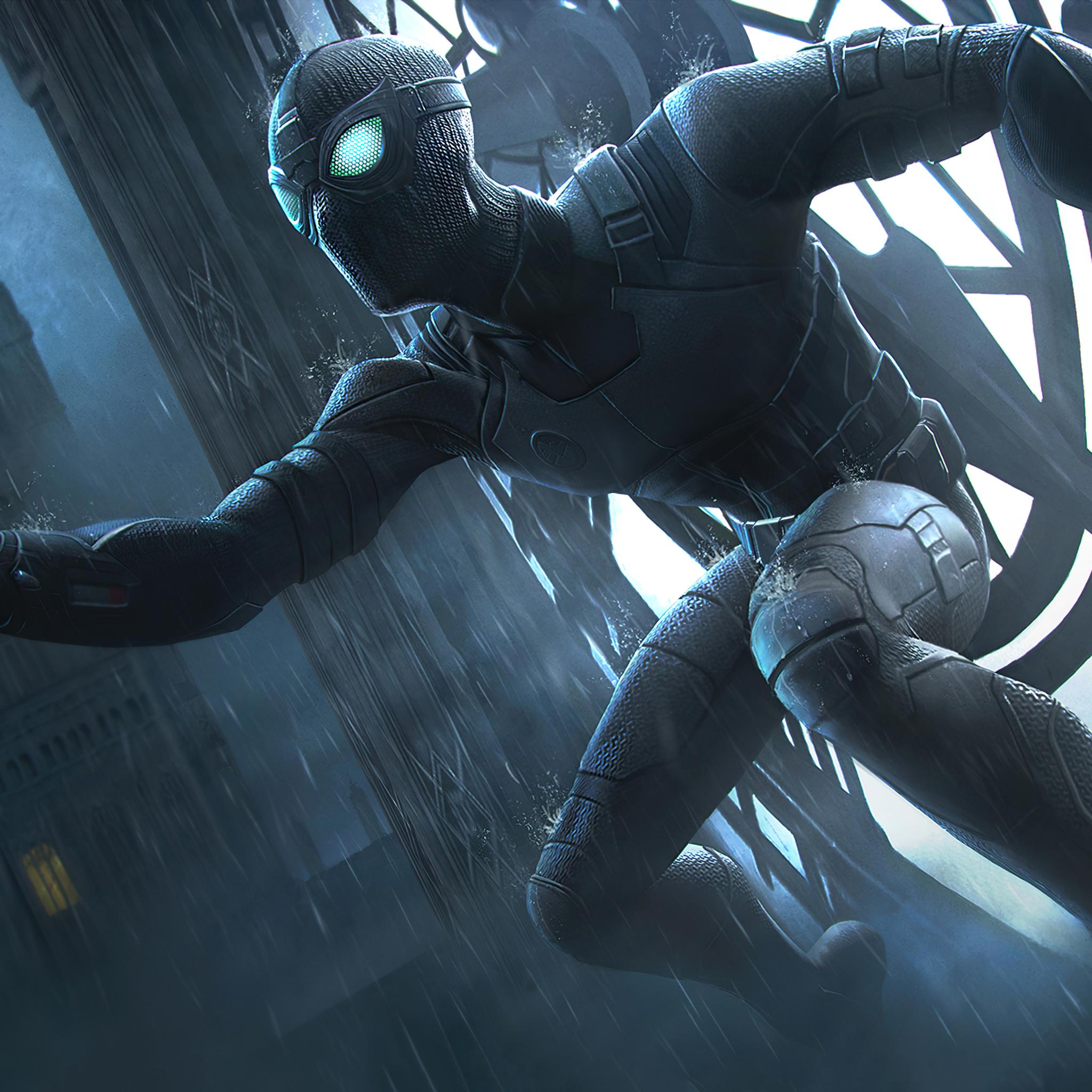 2048x2048 Black Spiderman Marvel Contest Of Champions 4k
