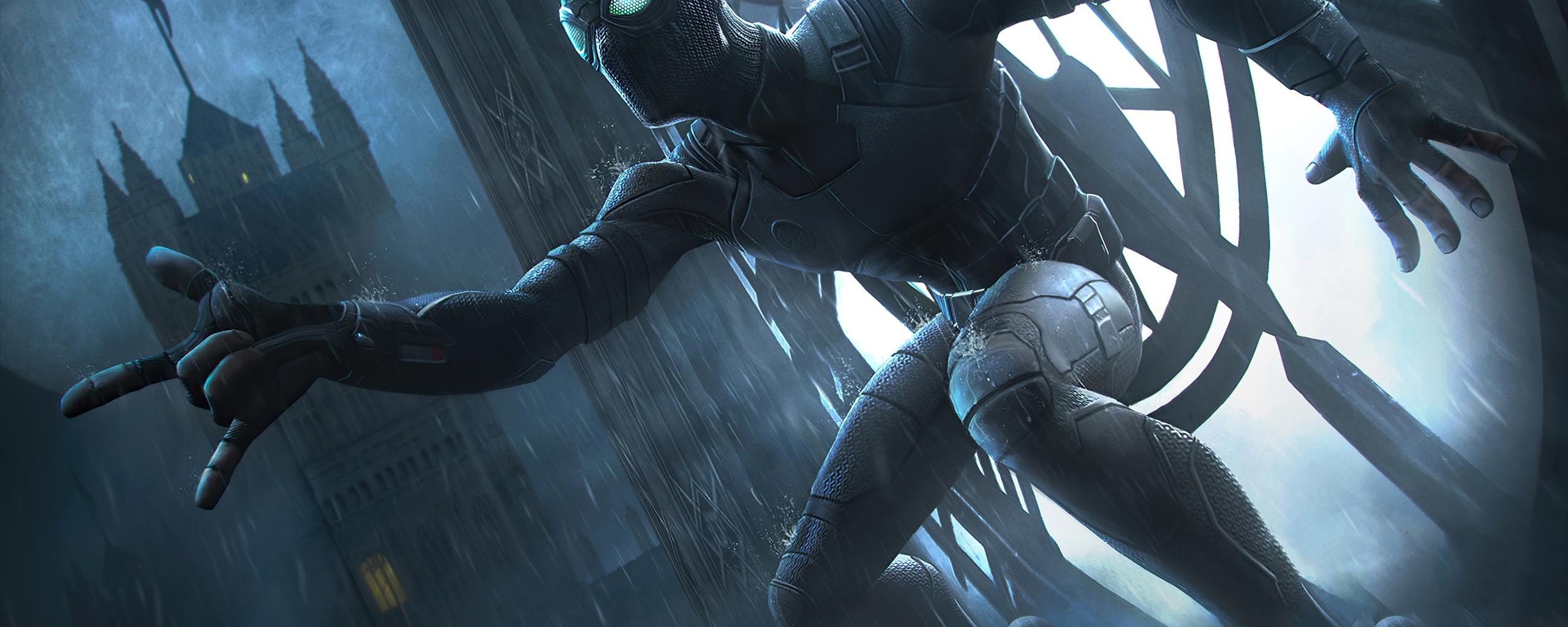 2560x1024 Black Spiderman Marvel Contest Of Champions 4k ...