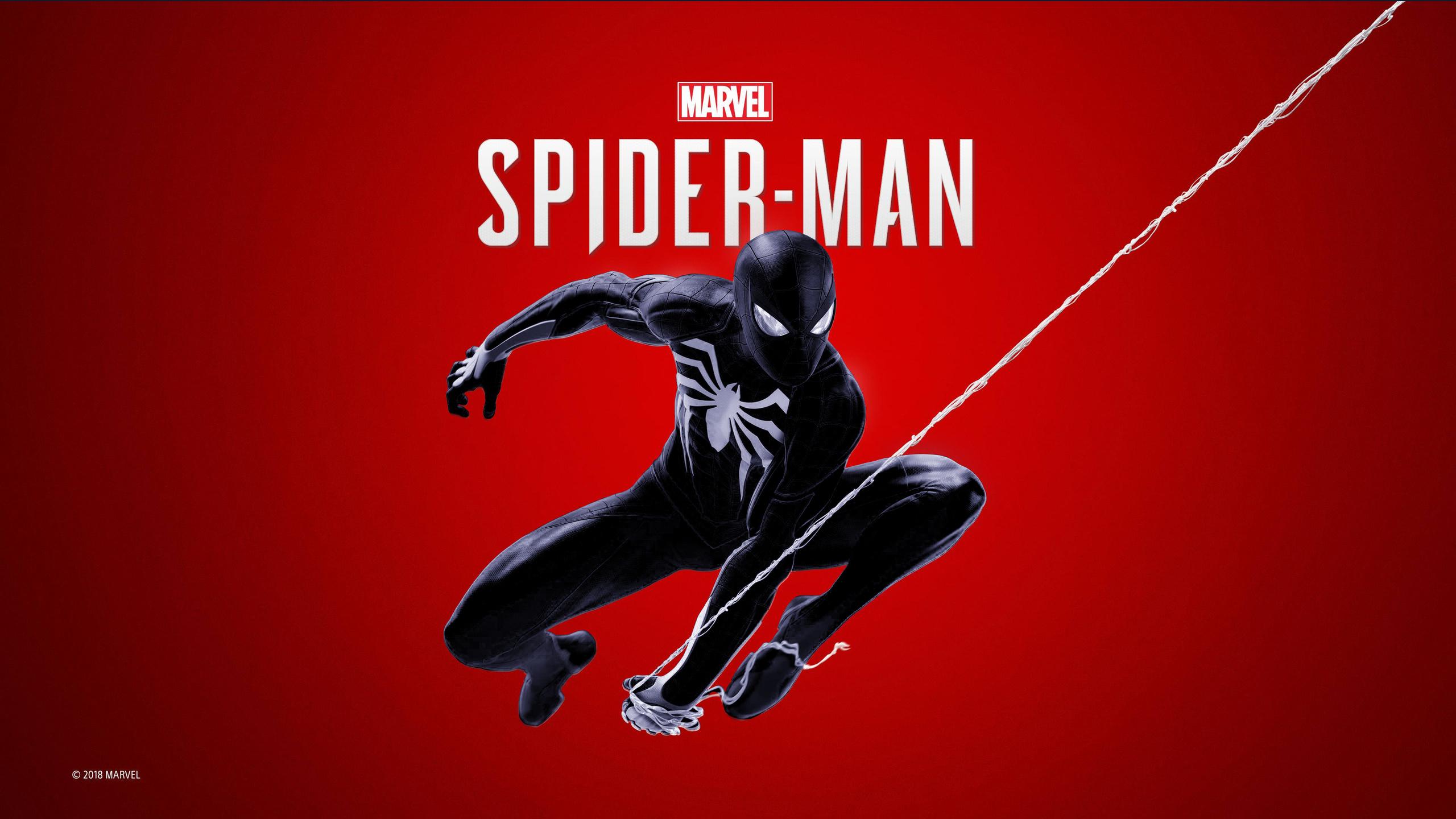 2560x1440 Black Spiderman Ps4 4k 1440P Resolution HD 4k ...