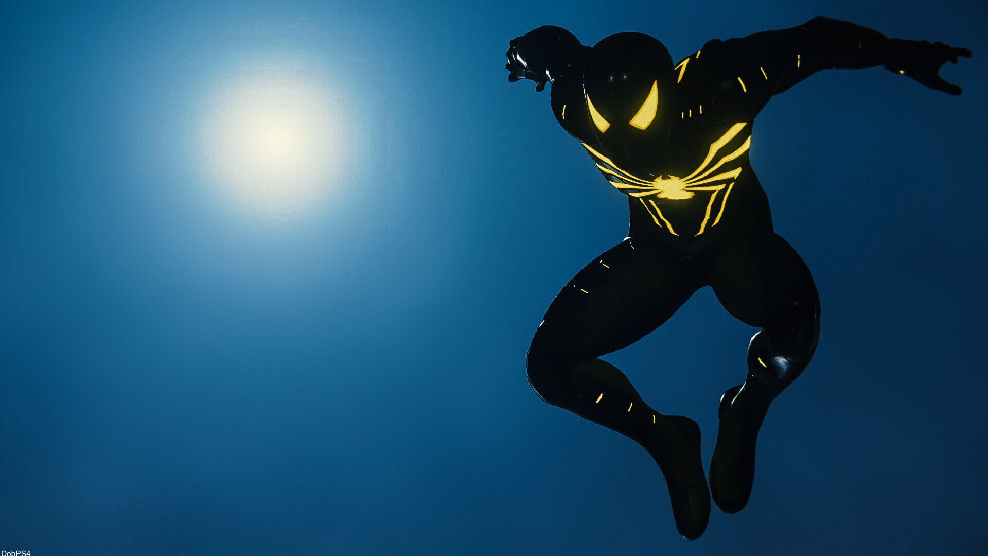 1920x1080 Black Suit Spiderman PS4 Pro Game Laptop Full HD ...