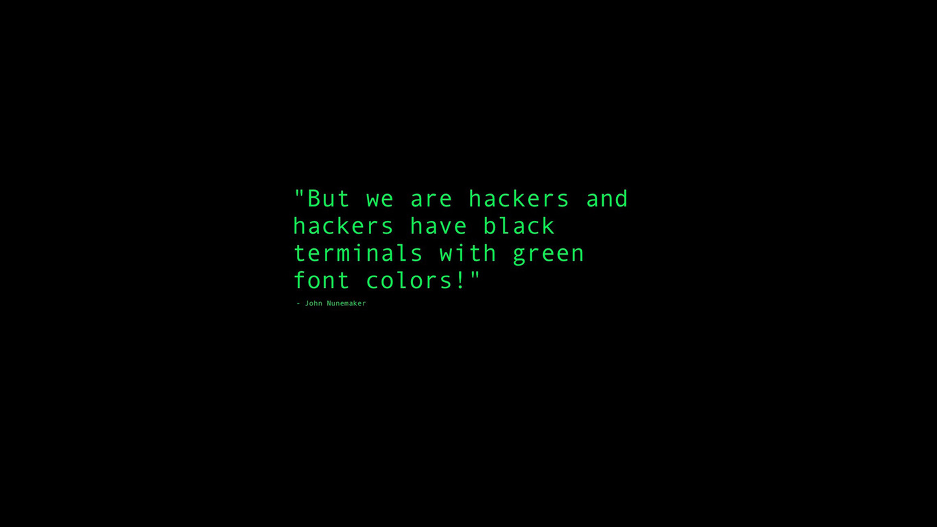 1366x768 Black Terminals With Green Font Colors Quote 1366x768