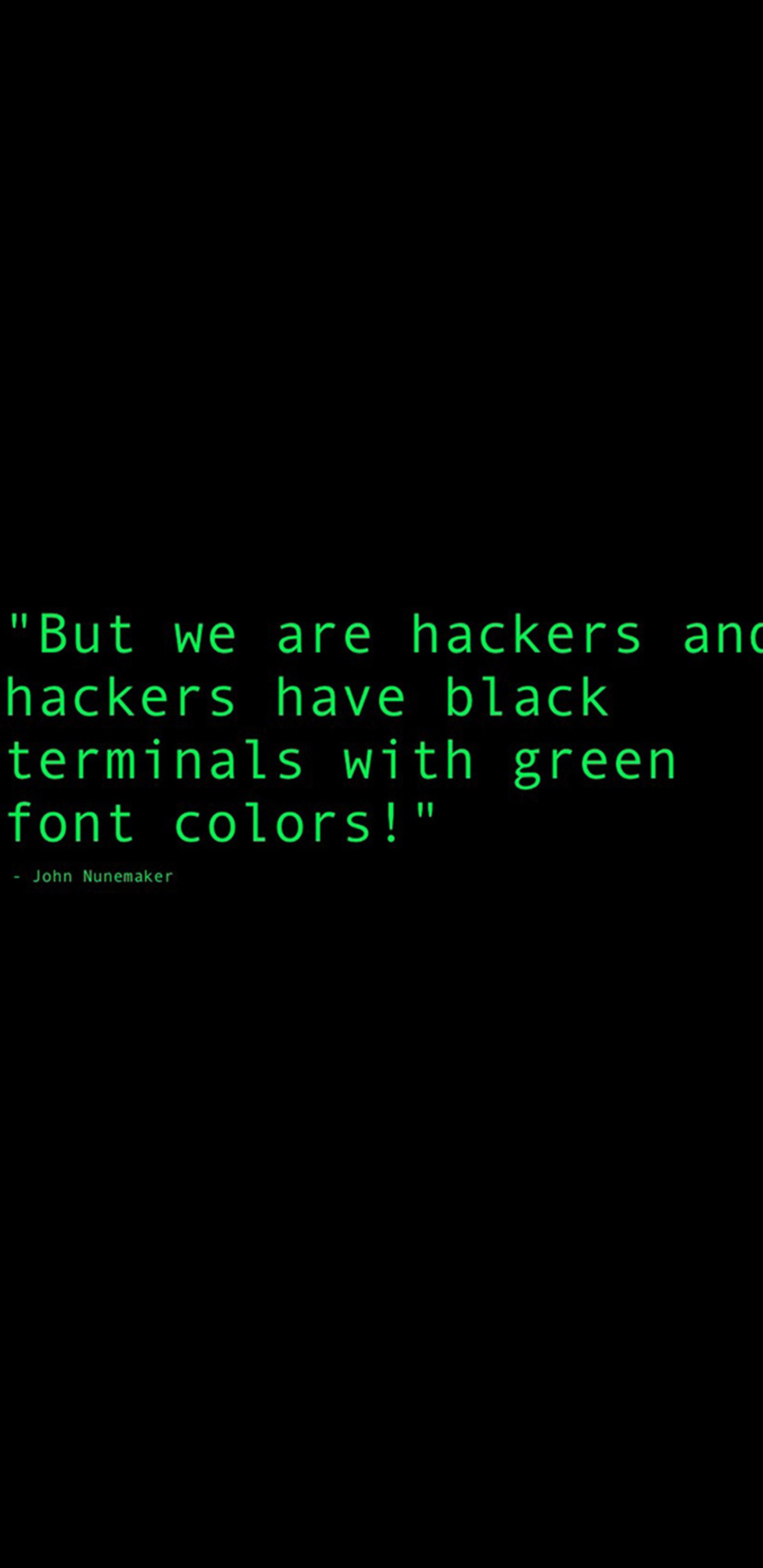 1440x2960 Black Terminals With Green Font Colors Quote Samsung