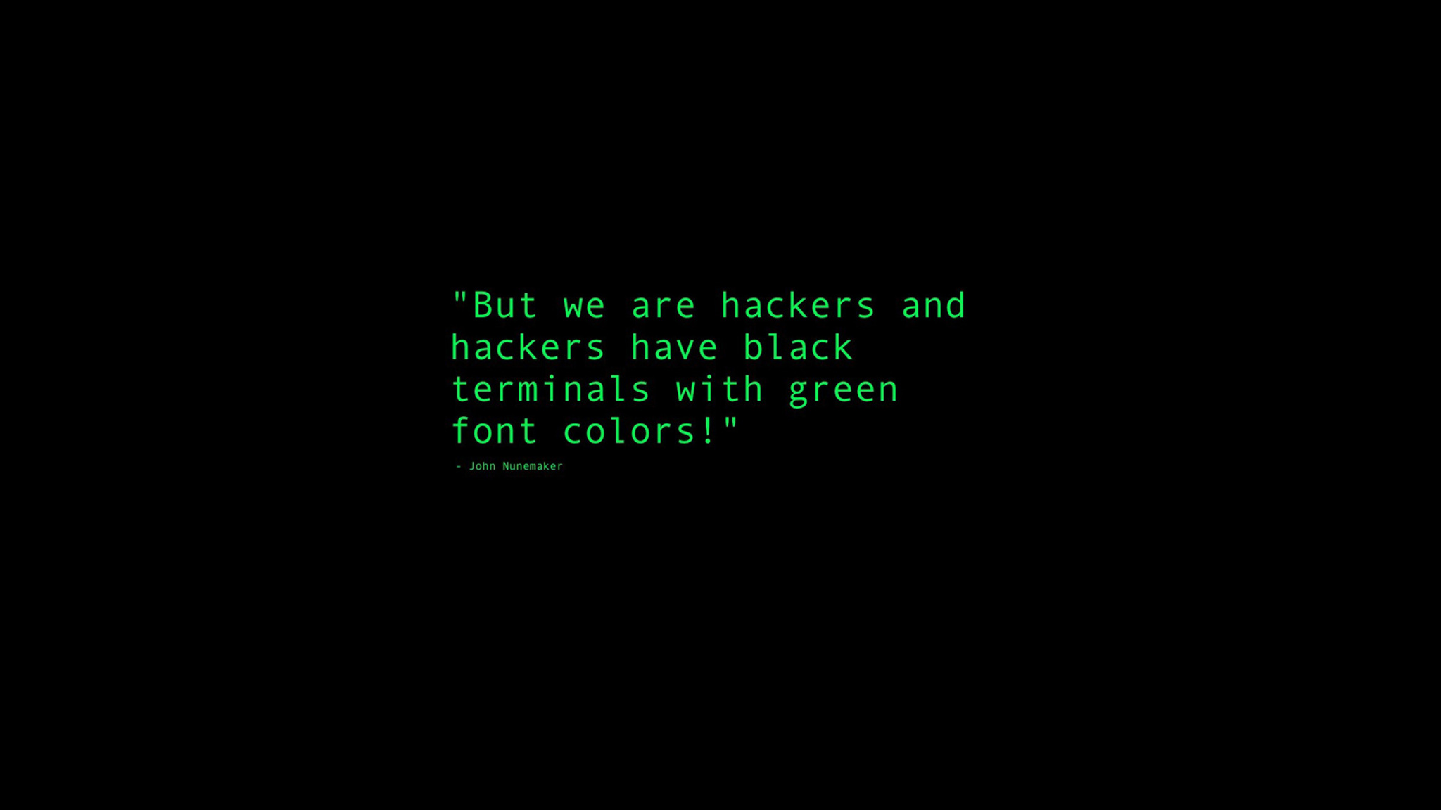 2048x1152 black terminals with green font colors quote - Hd wallpapers for laptop with quotes ...