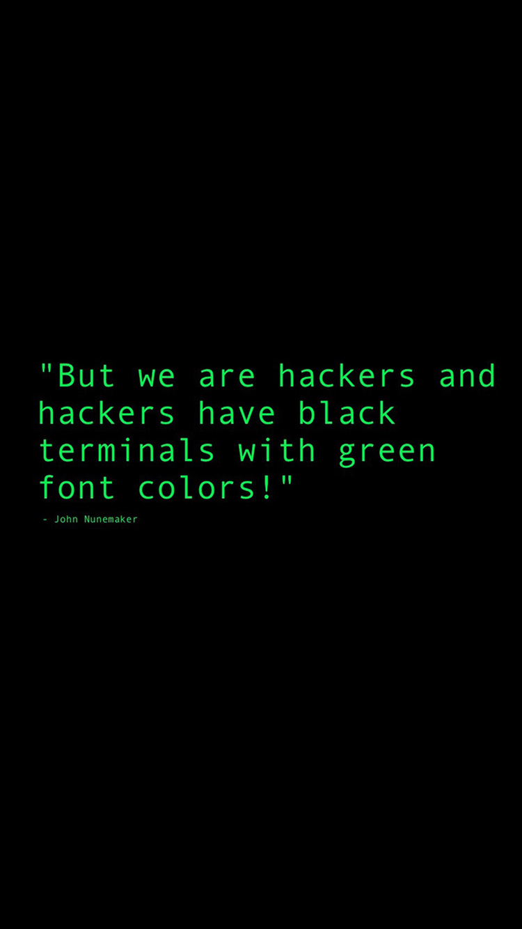 black terminals with green font colors quote 6g