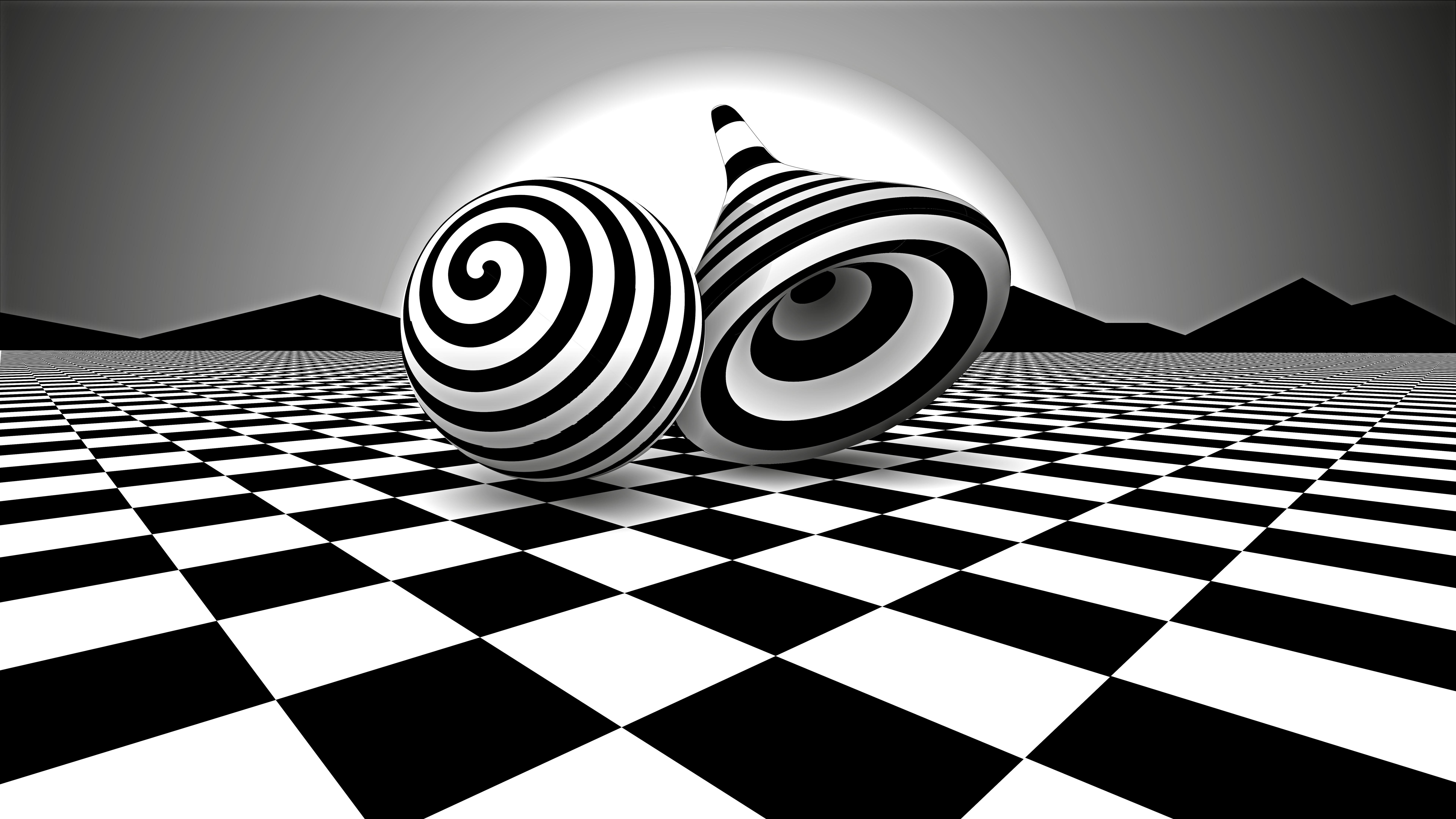 black white optical illusion si