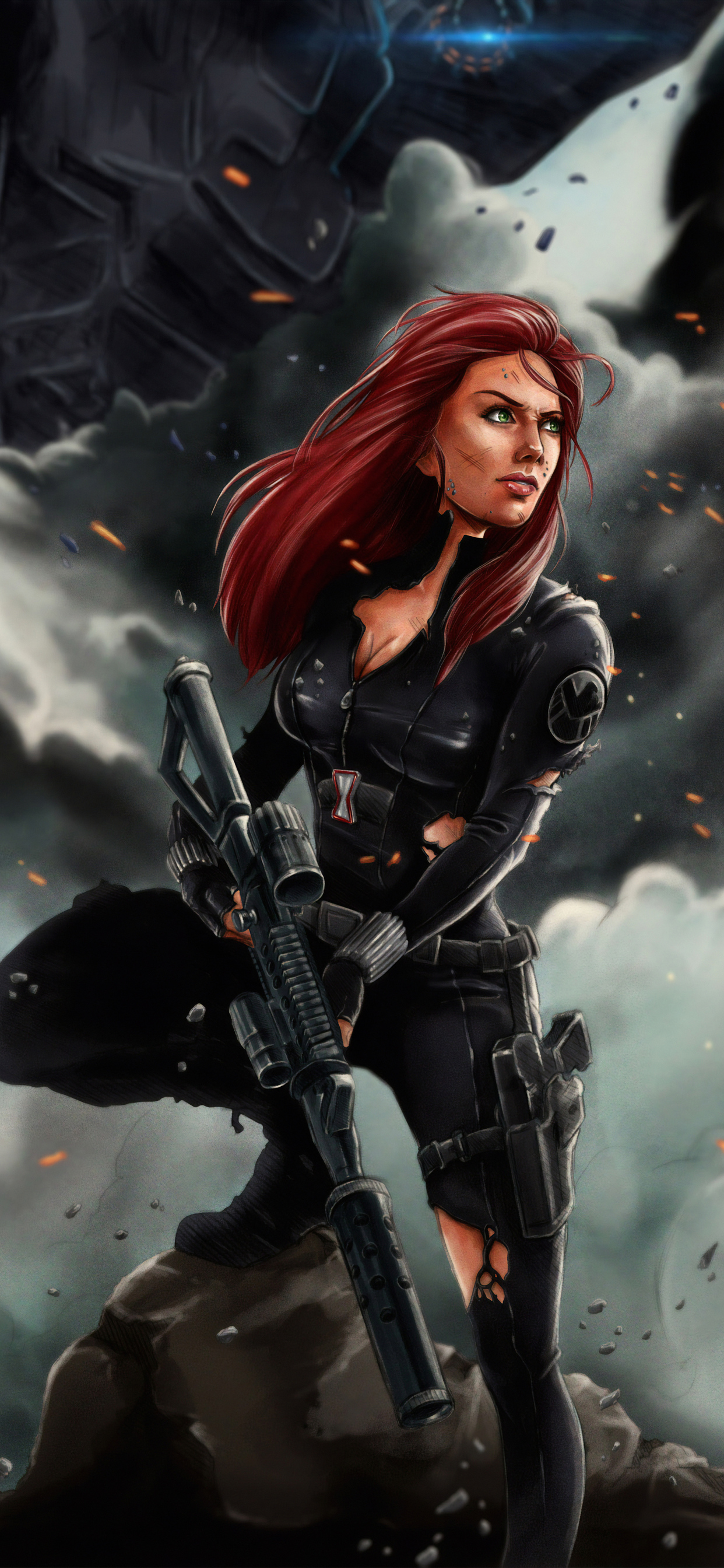 1242x2688 Black Widow 4k Art Iphone Xs Max Hd 4k Wallpapers