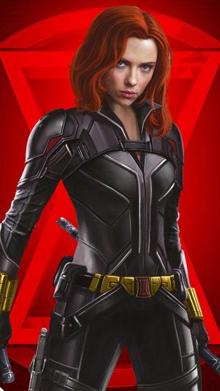 320x568 Black Widow 4k Poster 2020 320x568 Resolution HD ...