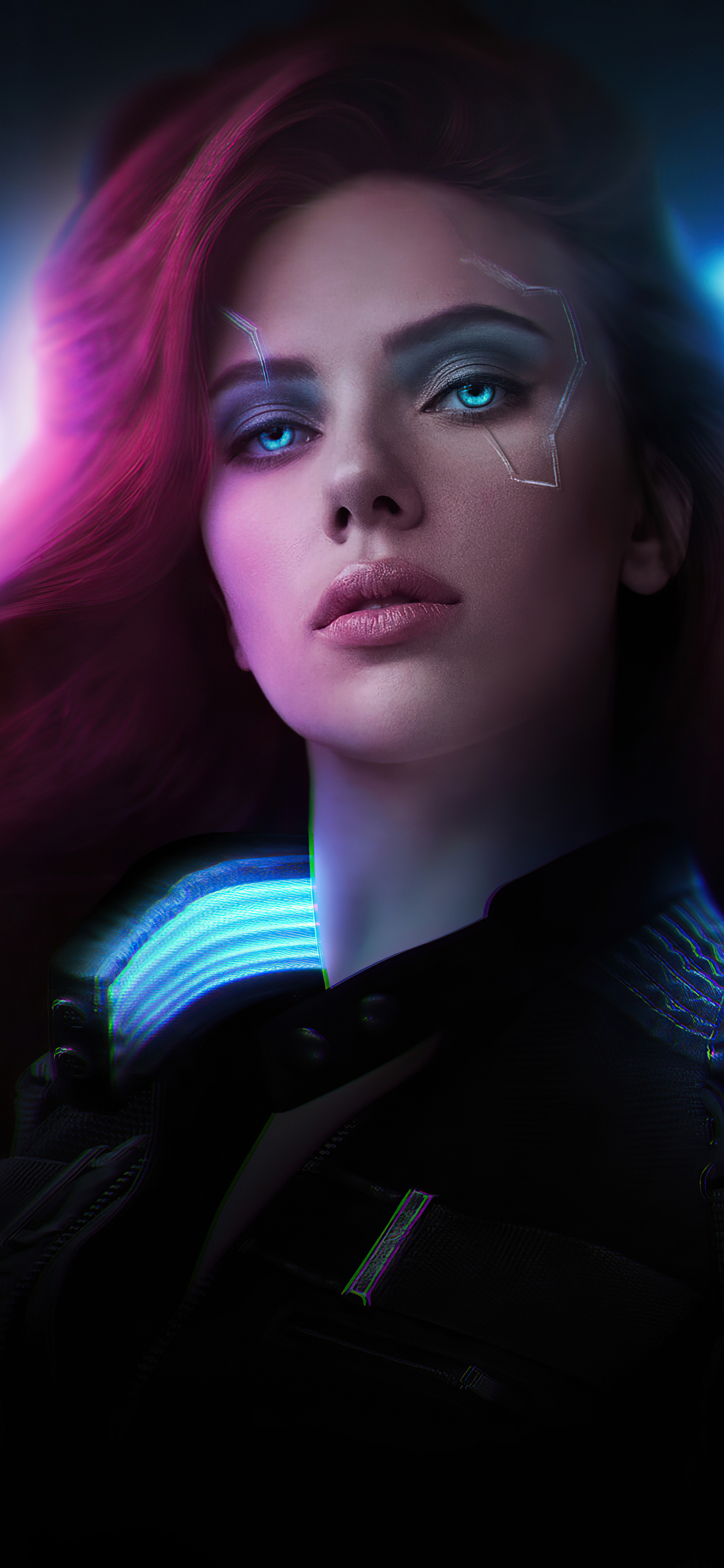 1242x2688 Black Widow Cyberpunk 2077 Iphone XS MAX HD 4k ...