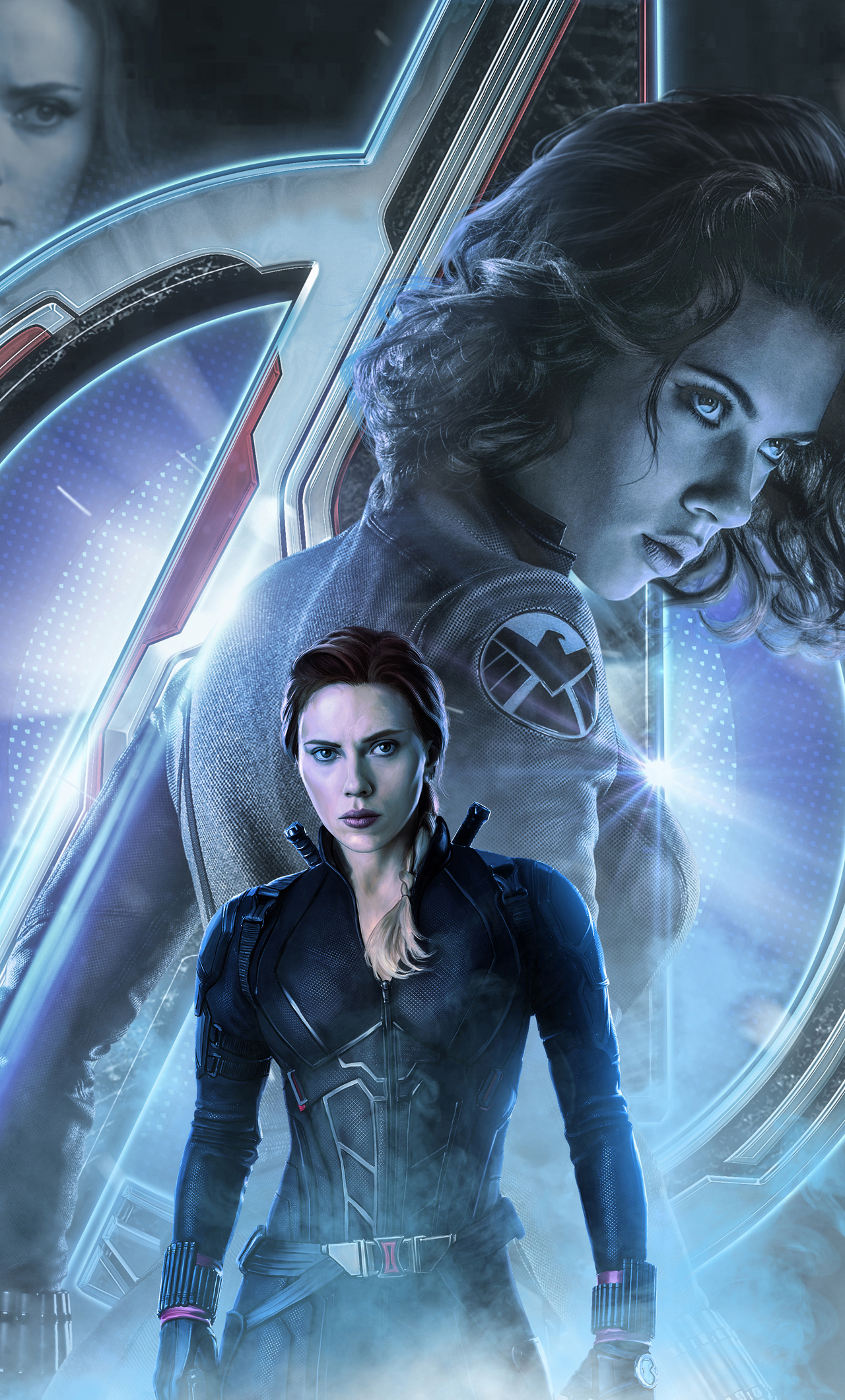 1280x2120 Black Widow In Avengers Endgame 2019 iPhone 6 ...