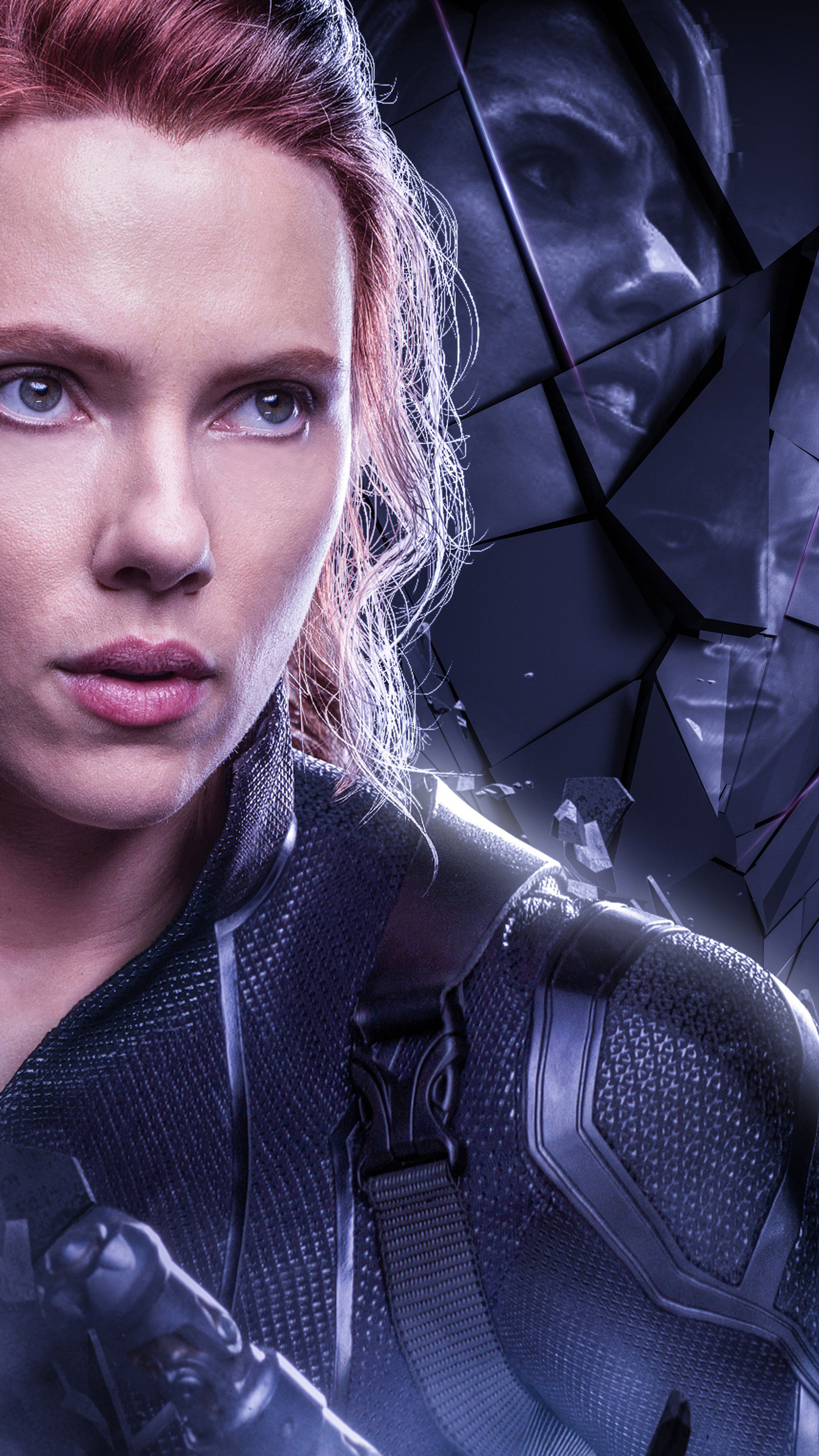 2160x3840 Black Widow In Avengers Endgame 2019 Poster Sony