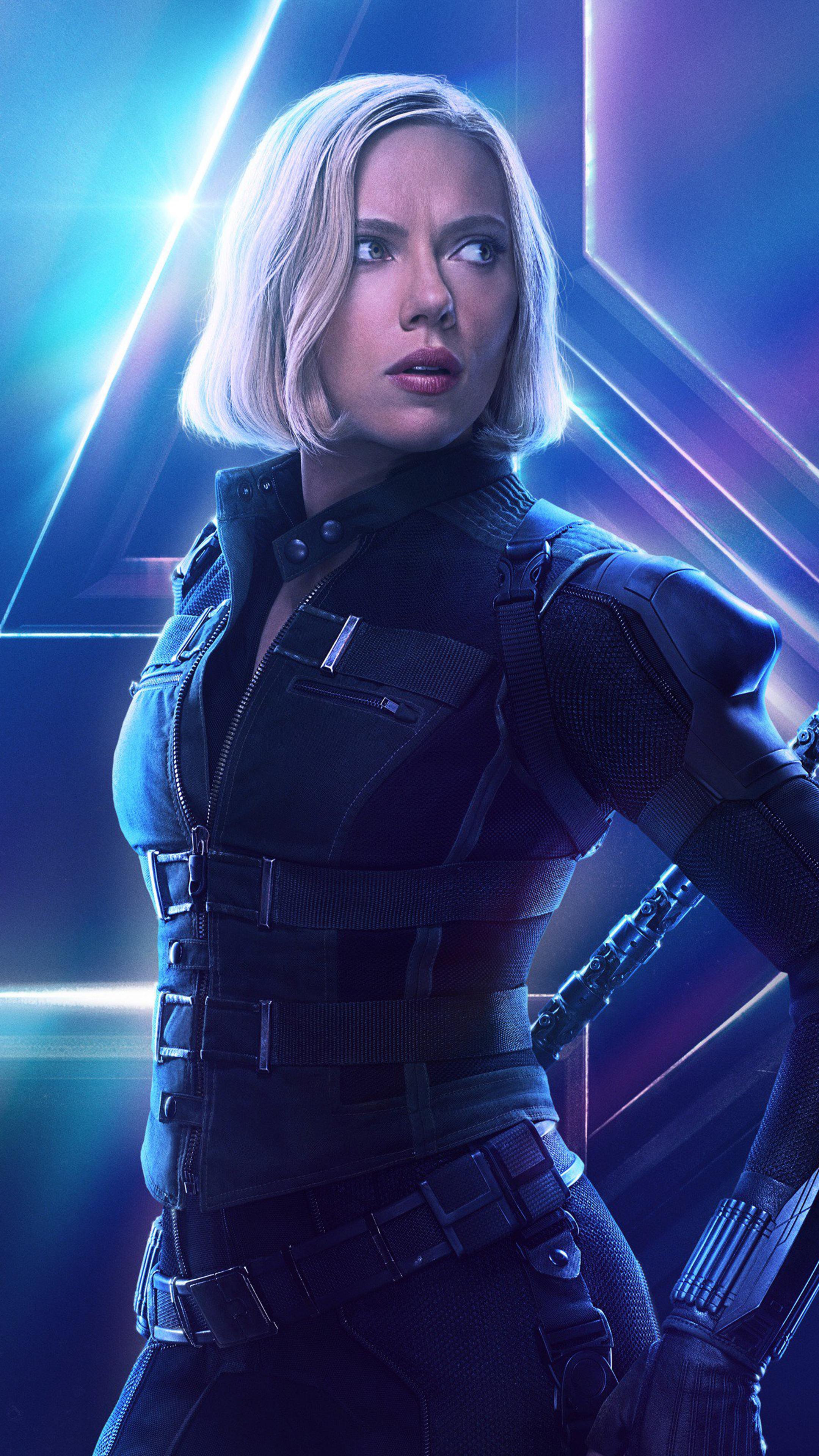 2160x3840 Black Widow In Avengers Infinity War New Poster Sony