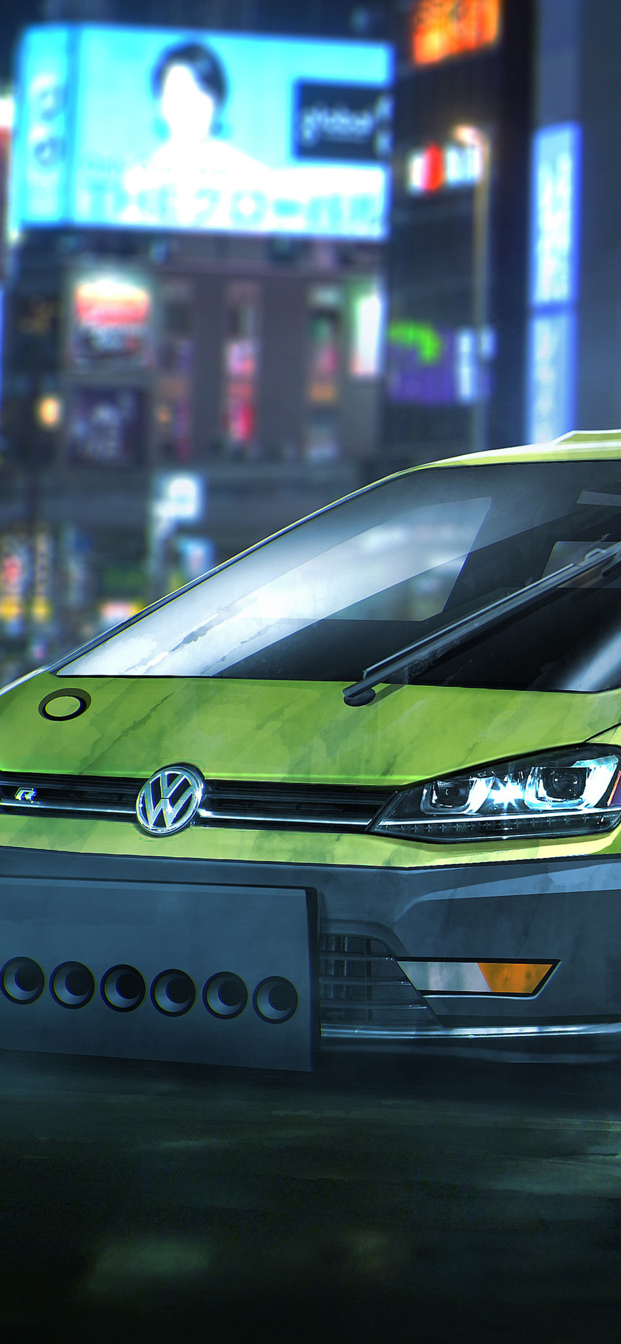 1242x2688 Blade Runner Volkswagen Golf Hatchback Iphone Xs Max Hd 4k Wallpapers Images Backgrounds Photos And Pictures