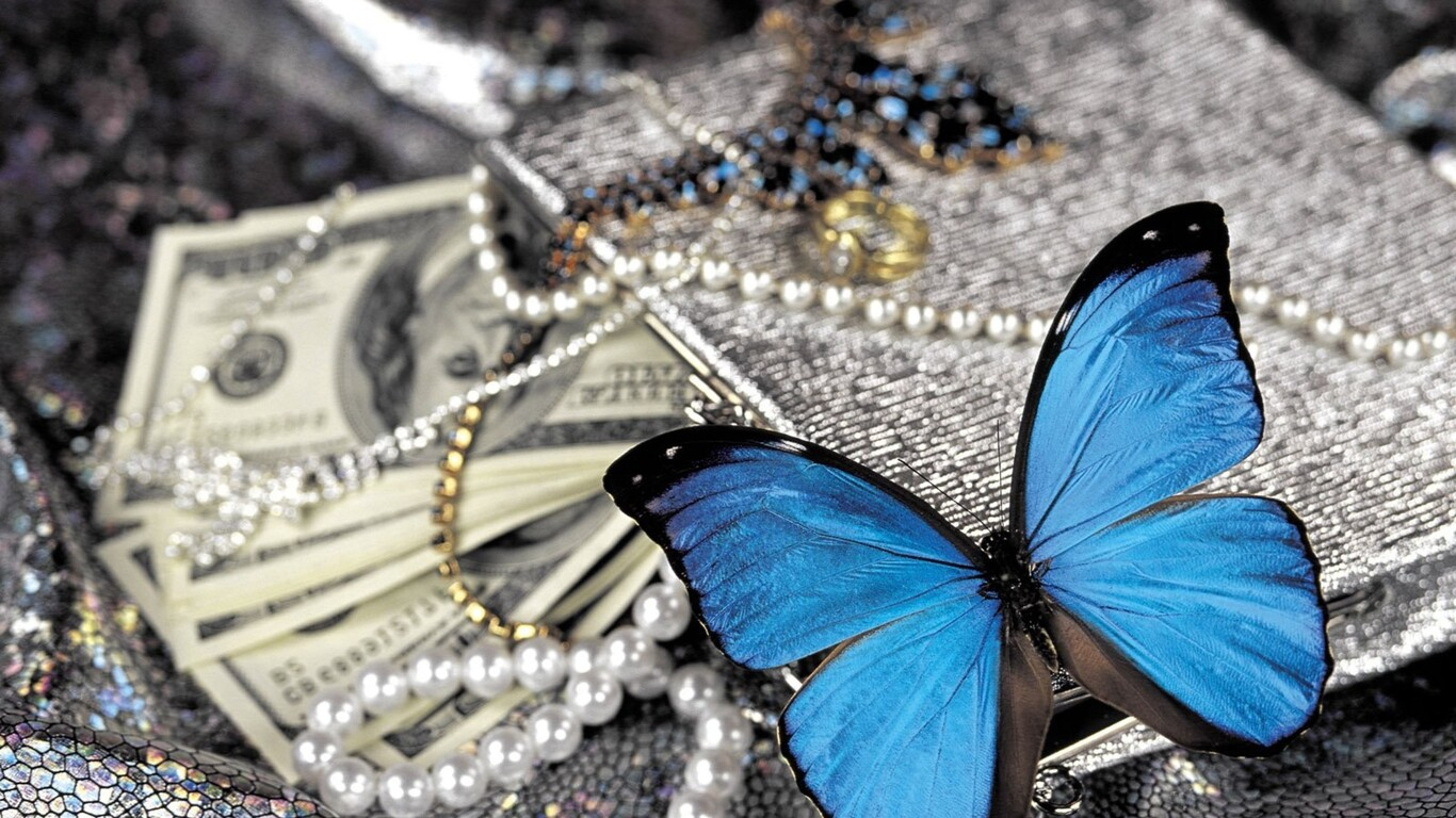 blue butterfly 1366x768 collection 12 wallpapers
