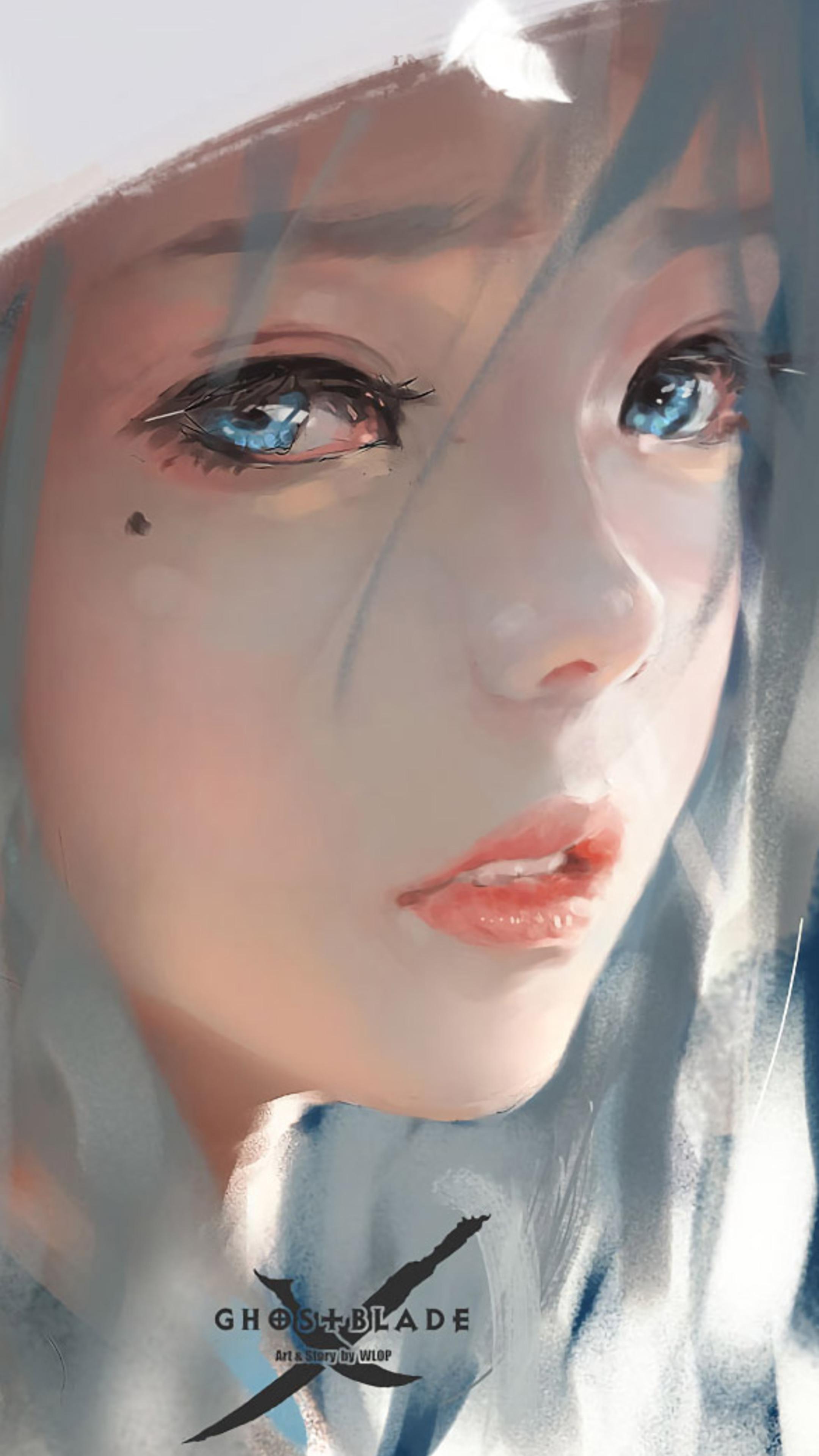 2160x3840 green-eyed, girl, face Sony Xperia X,XZ,Z5