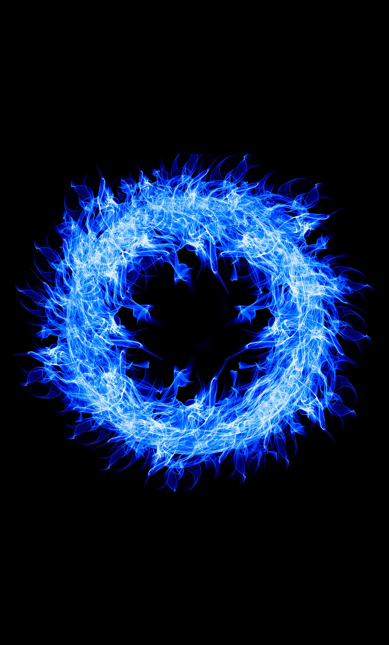 1280x2120 Blue Fire Ring 4k Iphone 6 Hd 4k Wallpapers