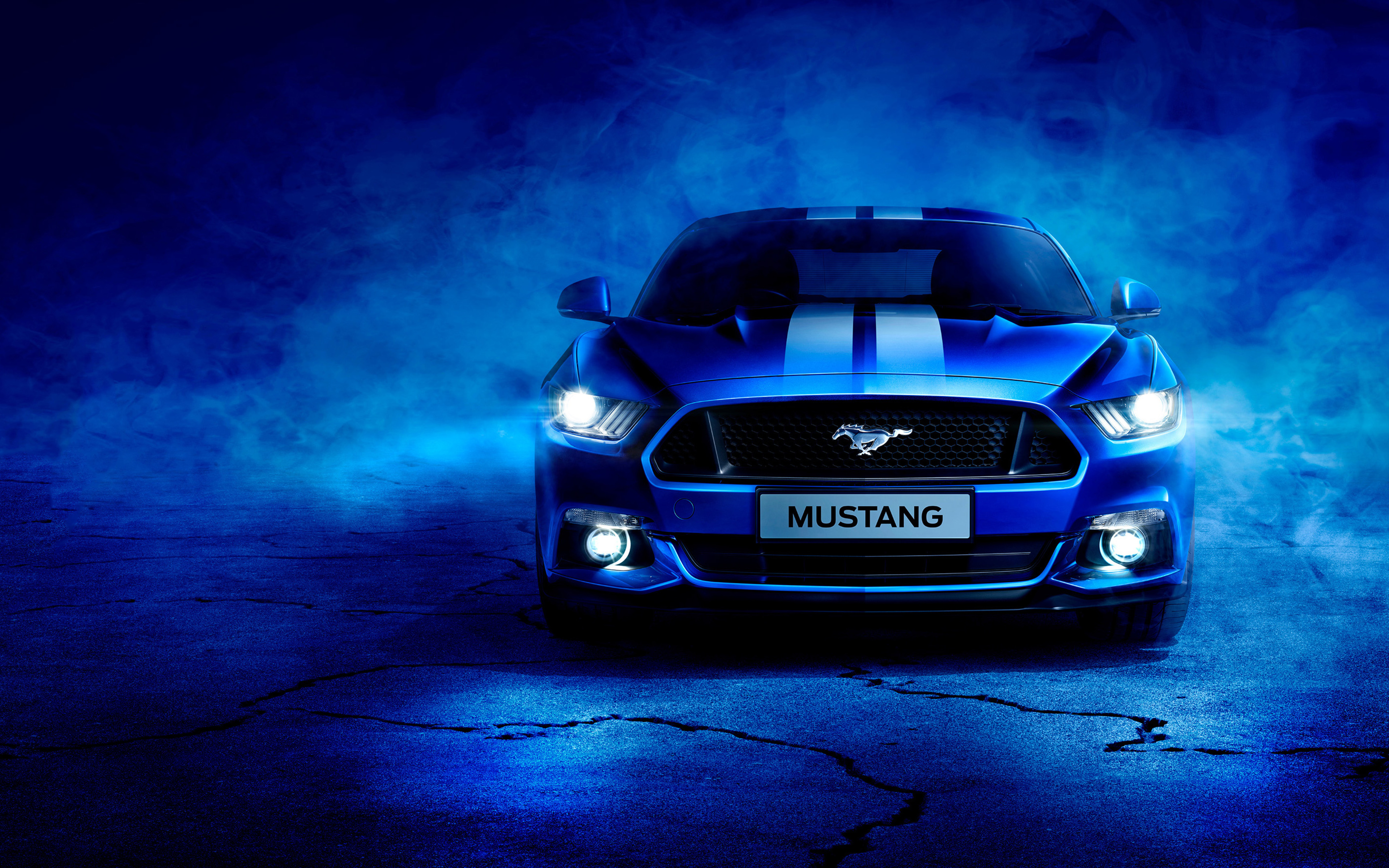 3840x2400 Blue Ford Mustang 4k HD 4k Wallpapers, Images ...