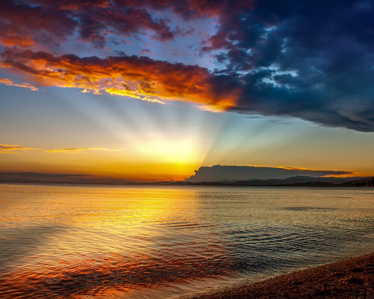1280x1024 Blue Hour Sunset Beach 4k 1280x1024 Resolution ...