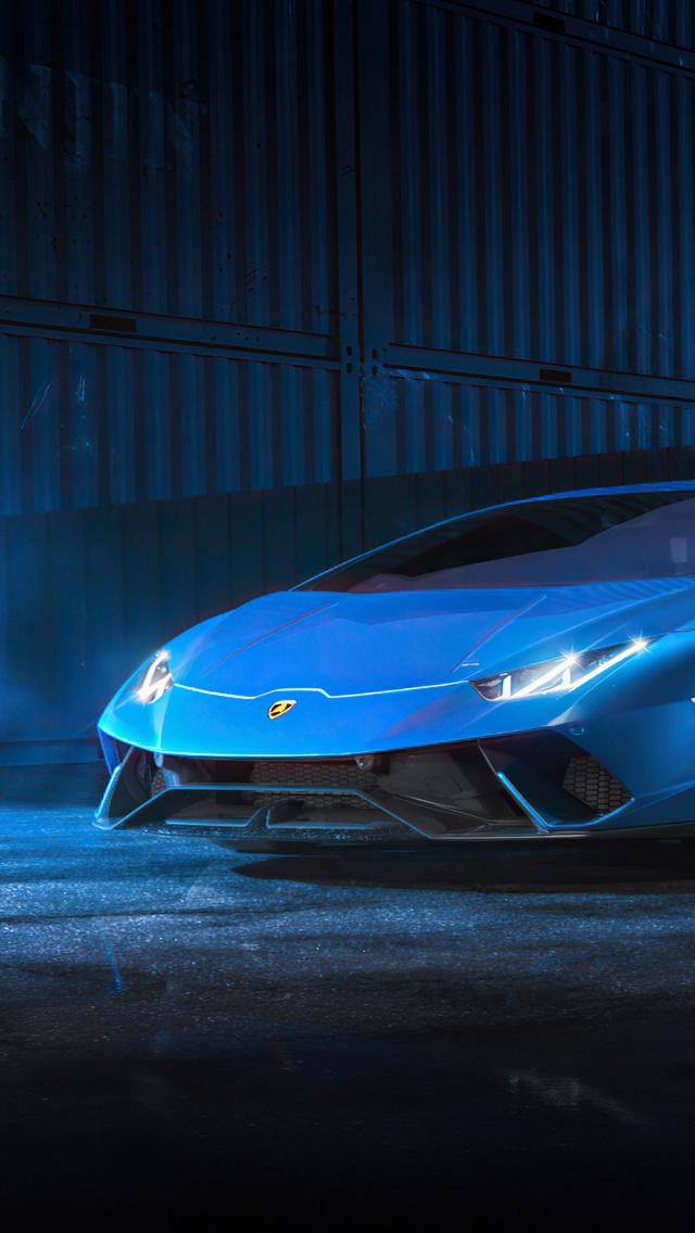 640x1136 Blue Lamborghini Huracan 4k iPhone 5,5c,5S,SE ...