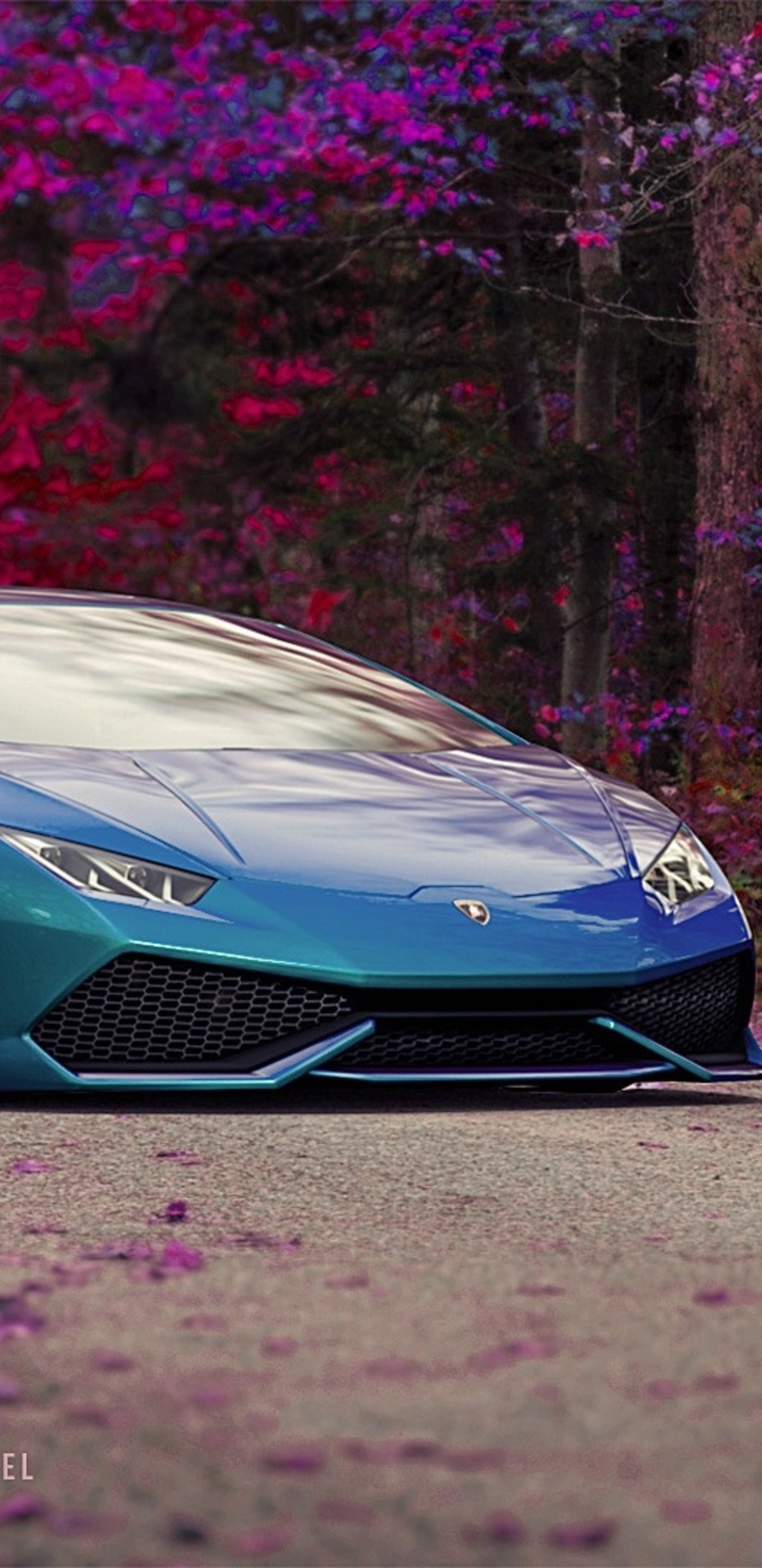 1440x2960 Blue Lamborghini Huracan Car Samsung Galaxy Note 9 8 S9