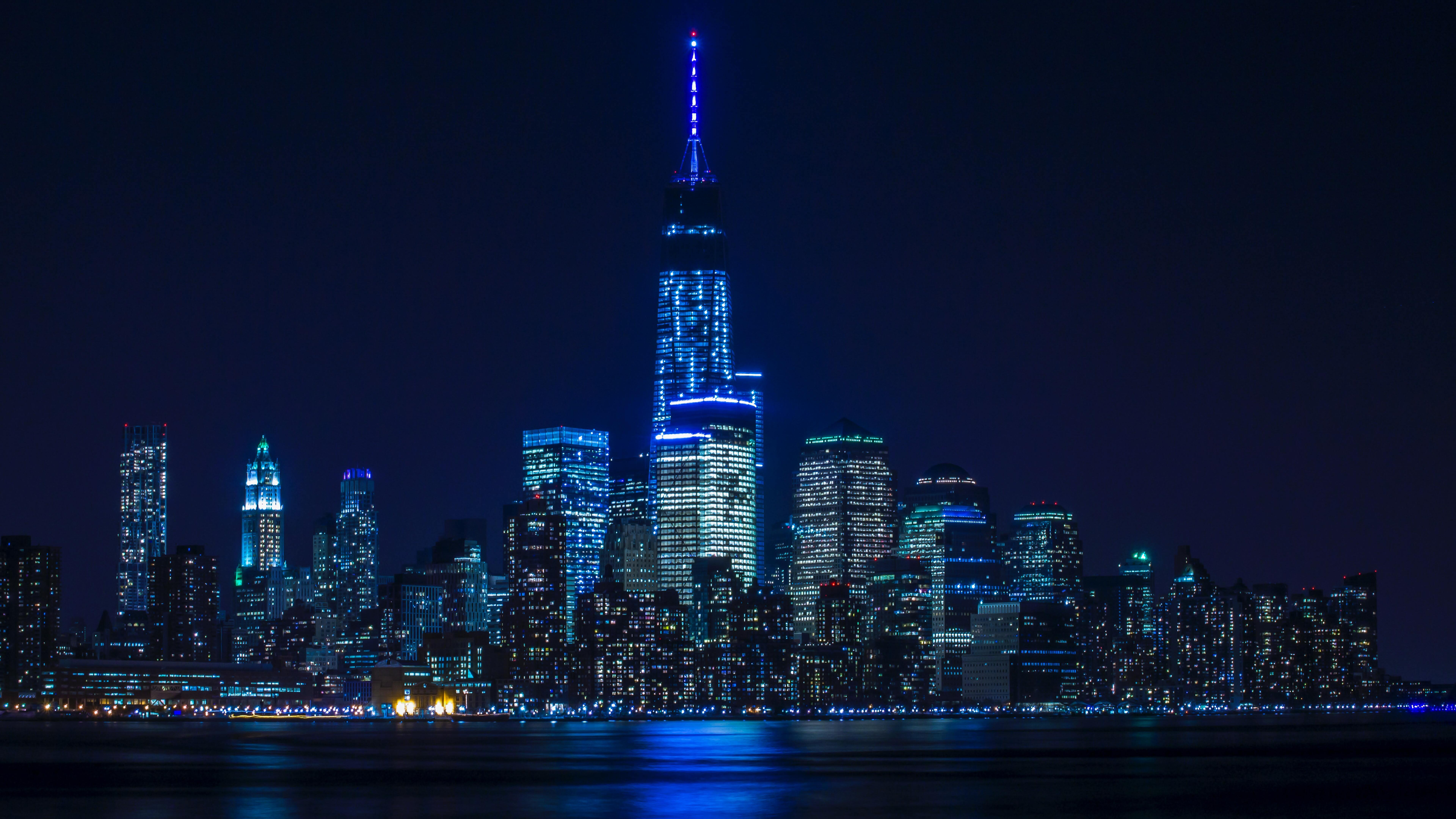 7680x4320 Blue Light Buildings Architecture 8k 8k Hd 4k