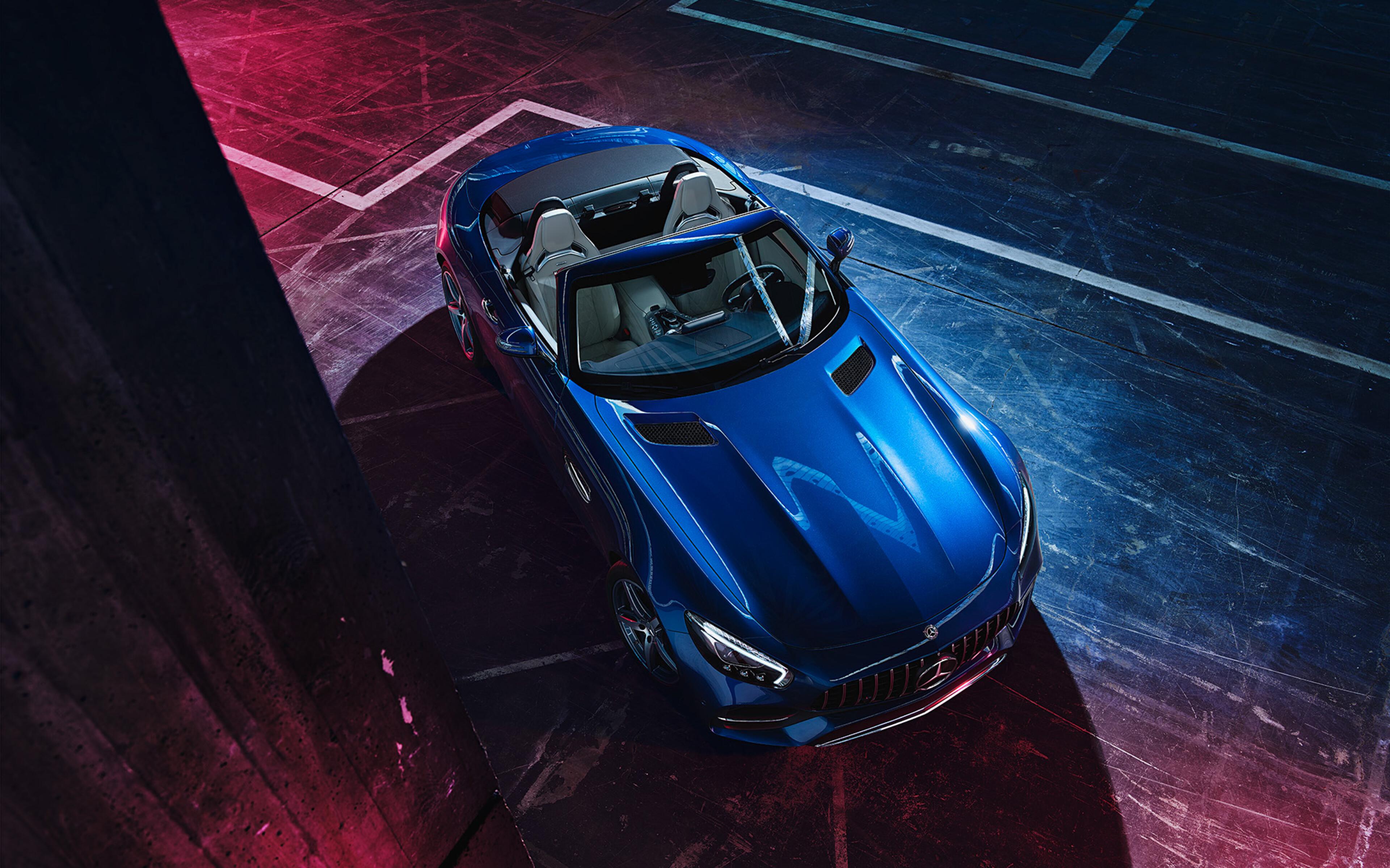 3840x2400 Blue Mercedes Benz Amg GT 2019 4k HD 4k ...