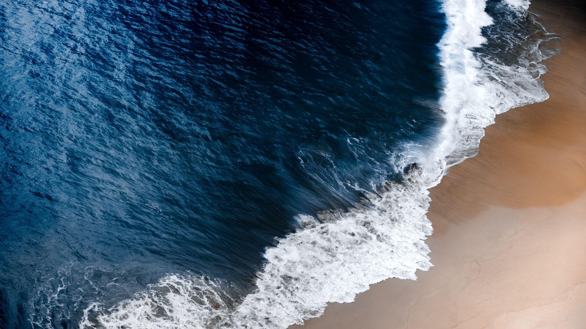 1920x1080 Blue Ocean Waves 5k Laptop Full HD 1080P HD 4k ...
