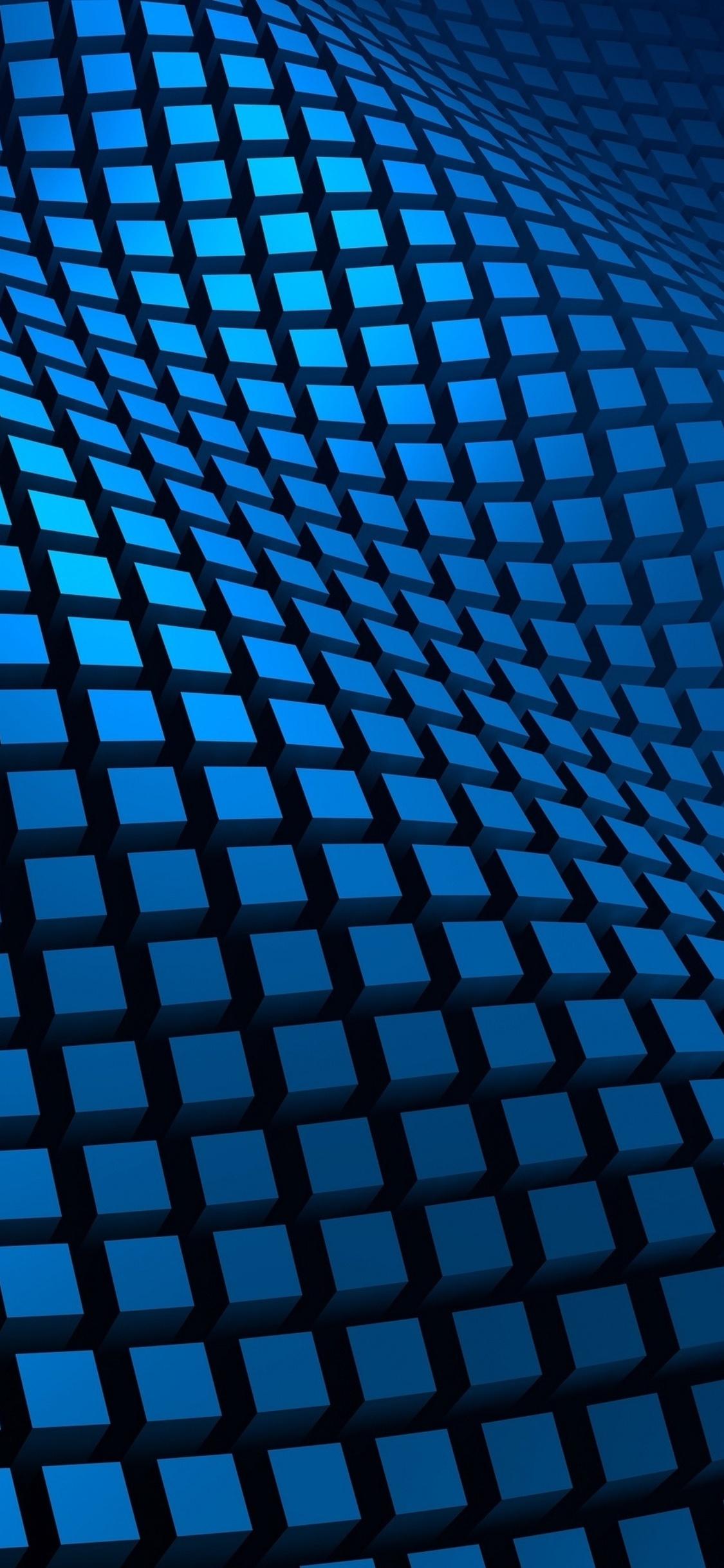 1125x2436 Blue Pattern 3d Iphone Xsiphone 10iphone X Hd 4k