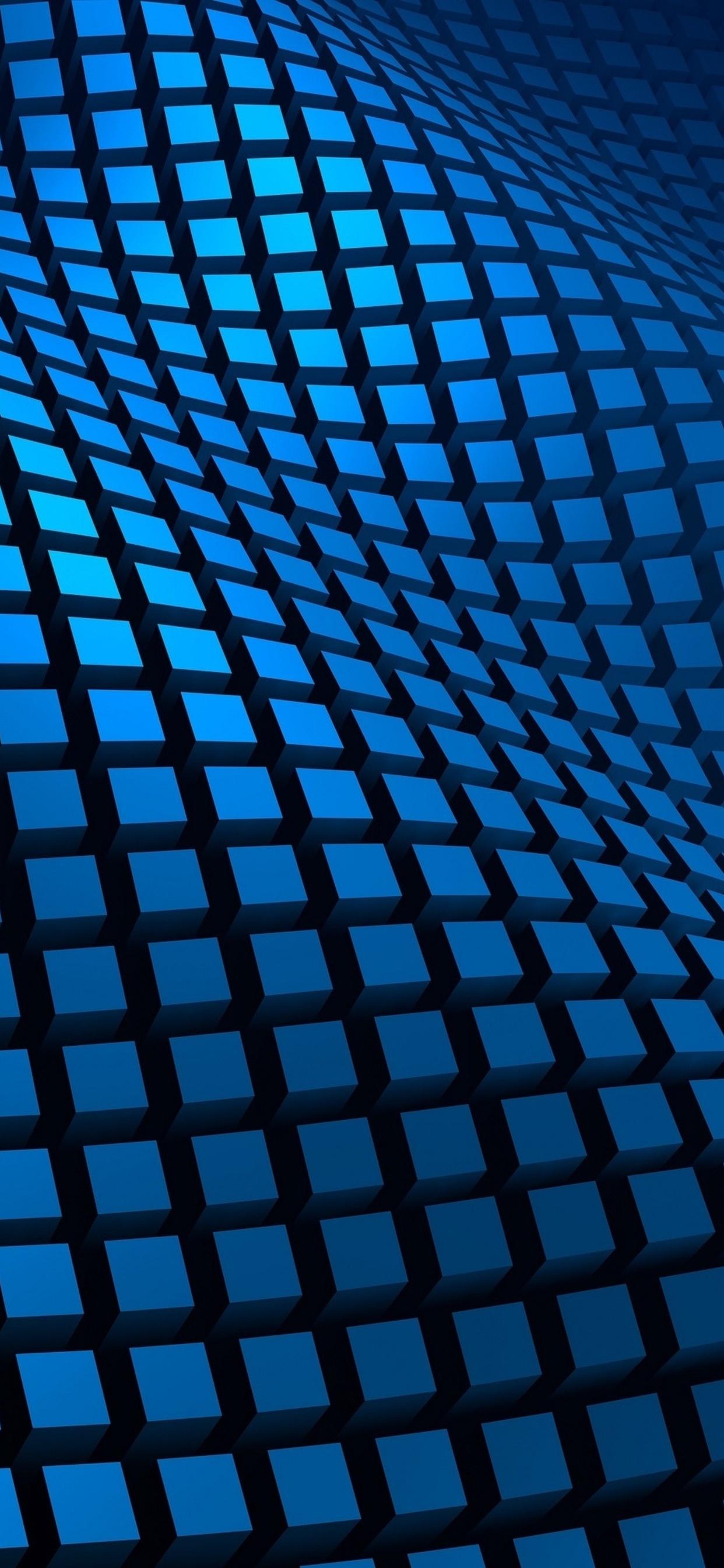 1242x2688 Blue Pattern 3d Iphone Xs Max Hd 4k Wallpapers