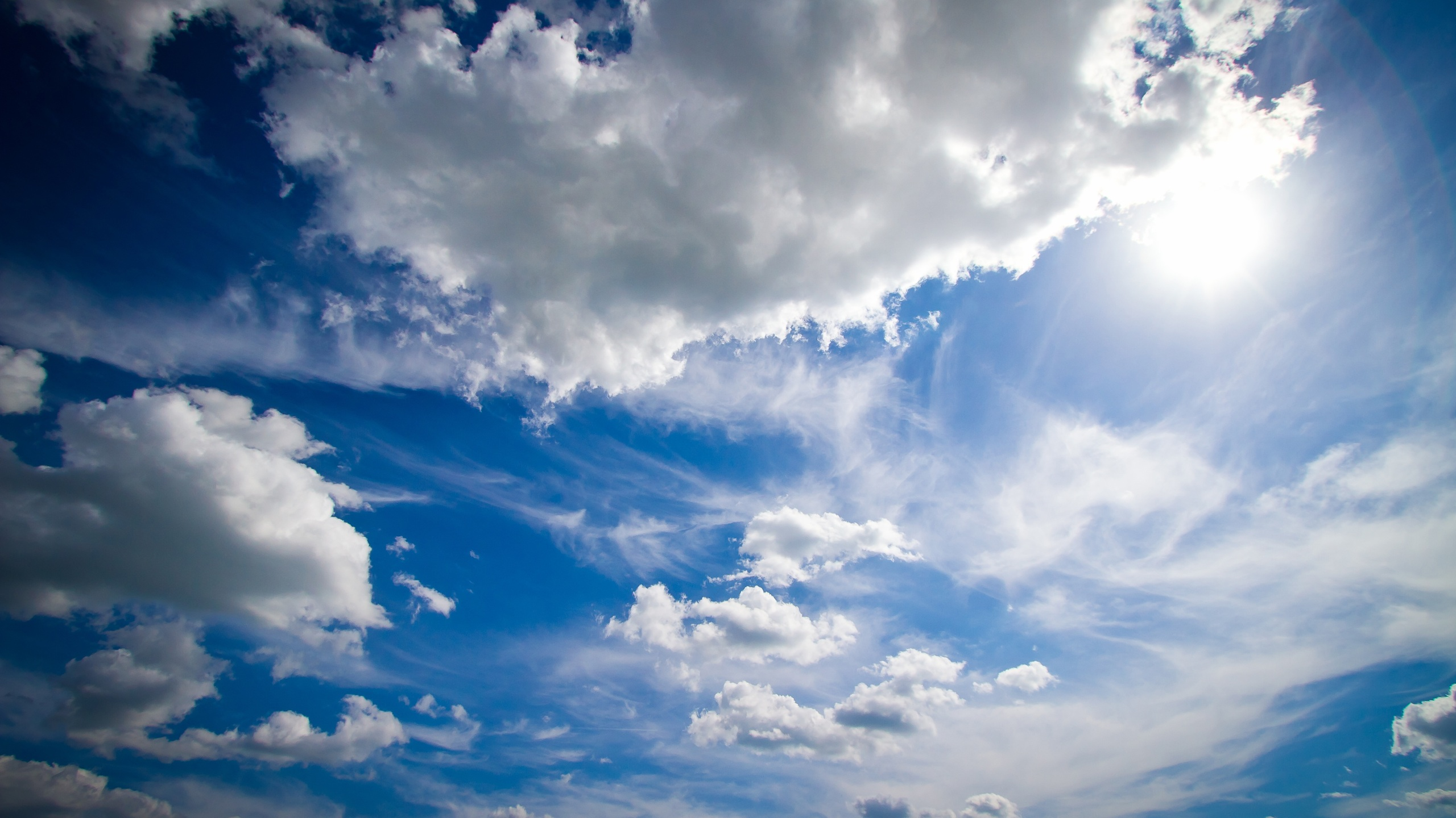 2560x1440 Blue Sky Summer 1440P Resolution HD 4k ...